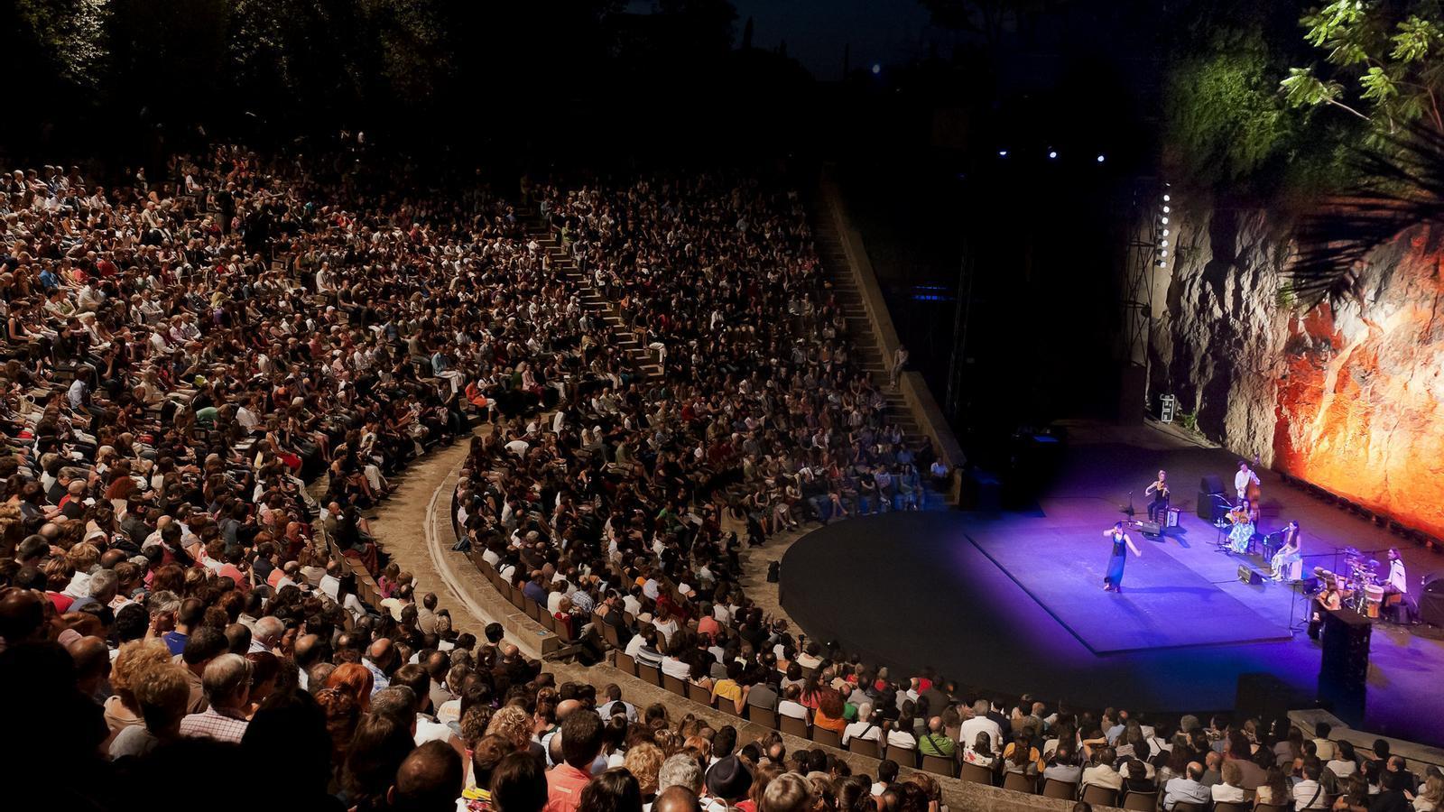 Una funció d'estiu al Teatre Grec. El festival és dels pocs que no ha retallat significativament el pressupost.