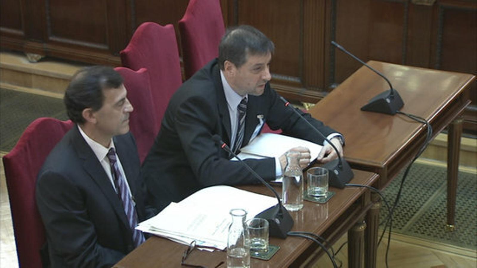 Els metges experts en traumatologia Xavier Crusi i Ferran Caballero, en la seva declaració al judici del Procés