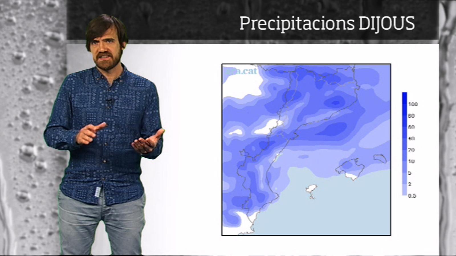 La méteo en 1 minut: dijous amb pluges i ambient fred