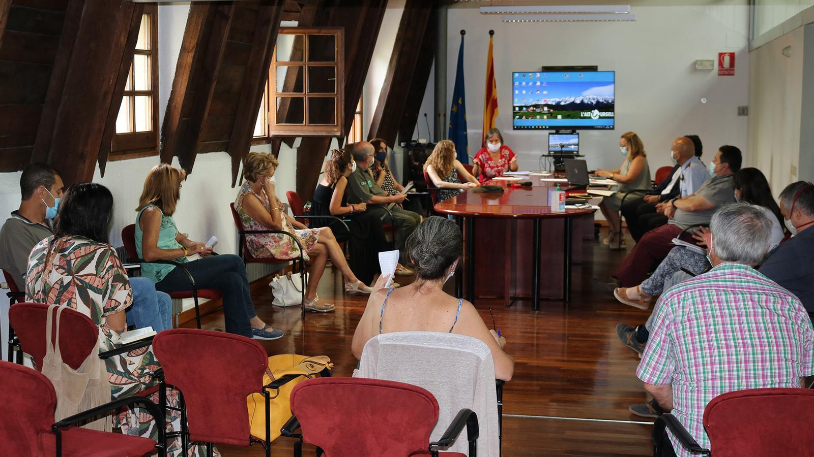 Un moment del Consell d'Alcaldes de l'Alt Urgell. / CCAU