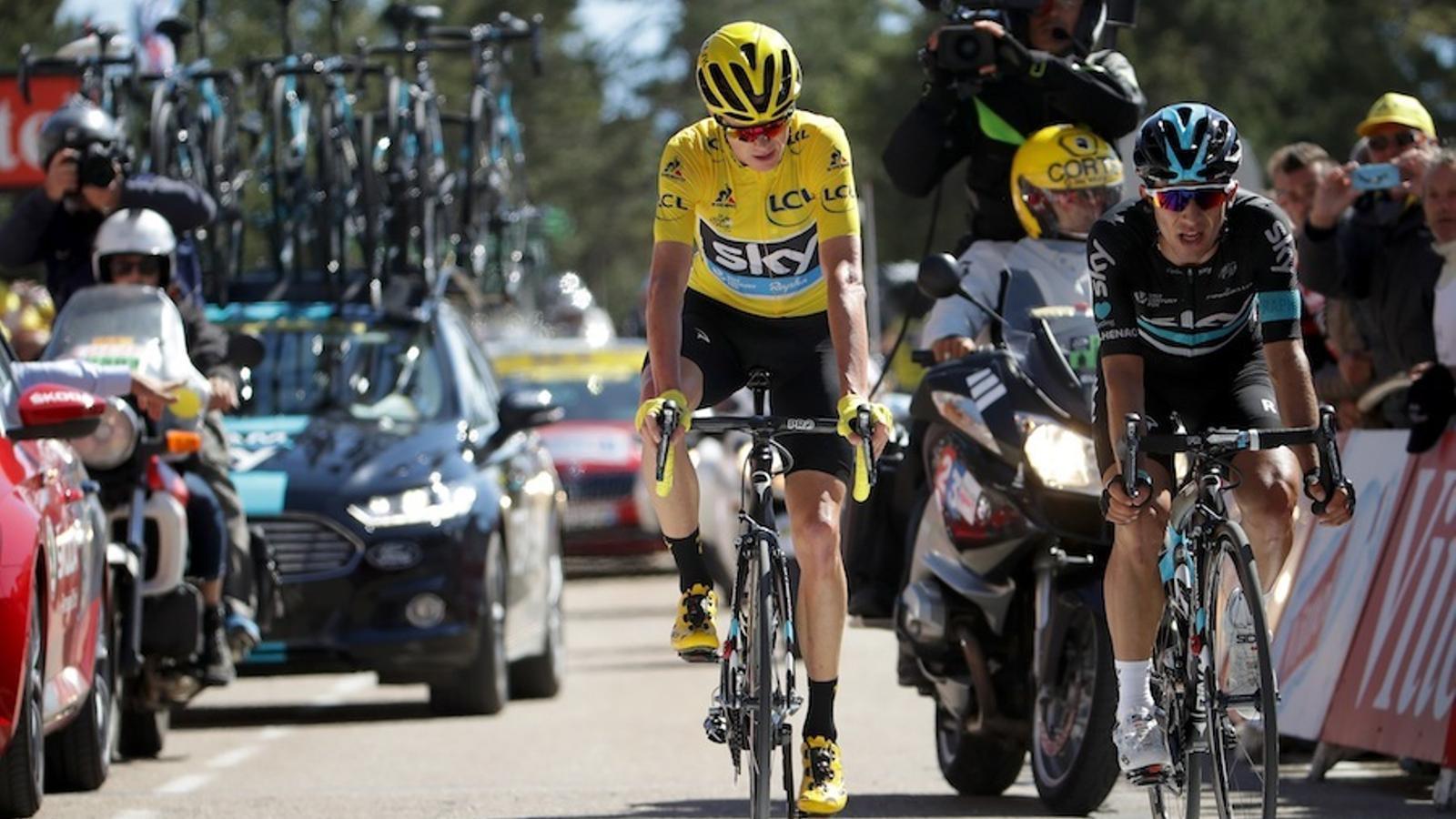 Chris Froome, durant una etapa d'aquest Tour