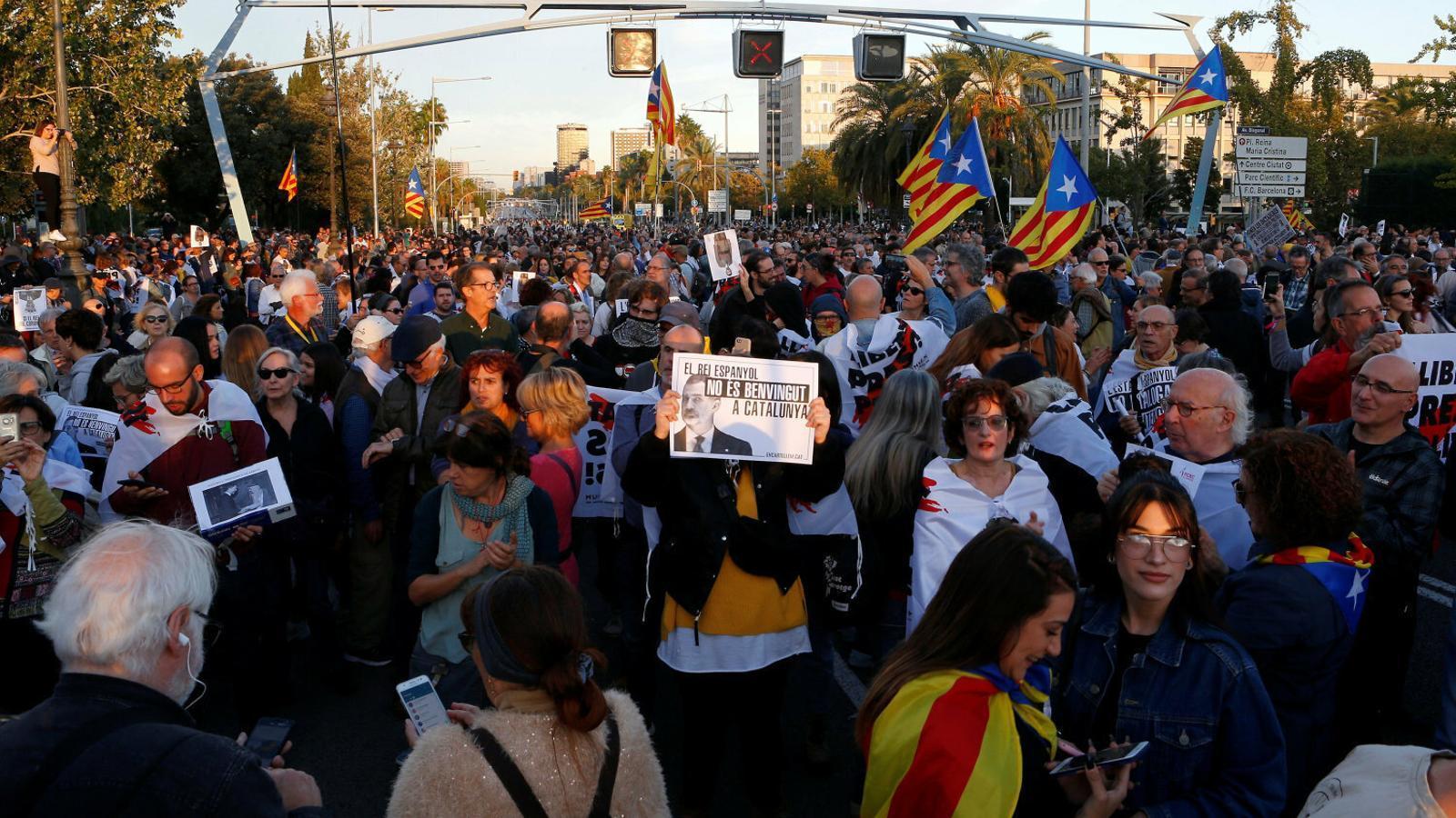 L'independentisme torna a preparar mobilitzacions contra la visita del rei a Catalunya divendres