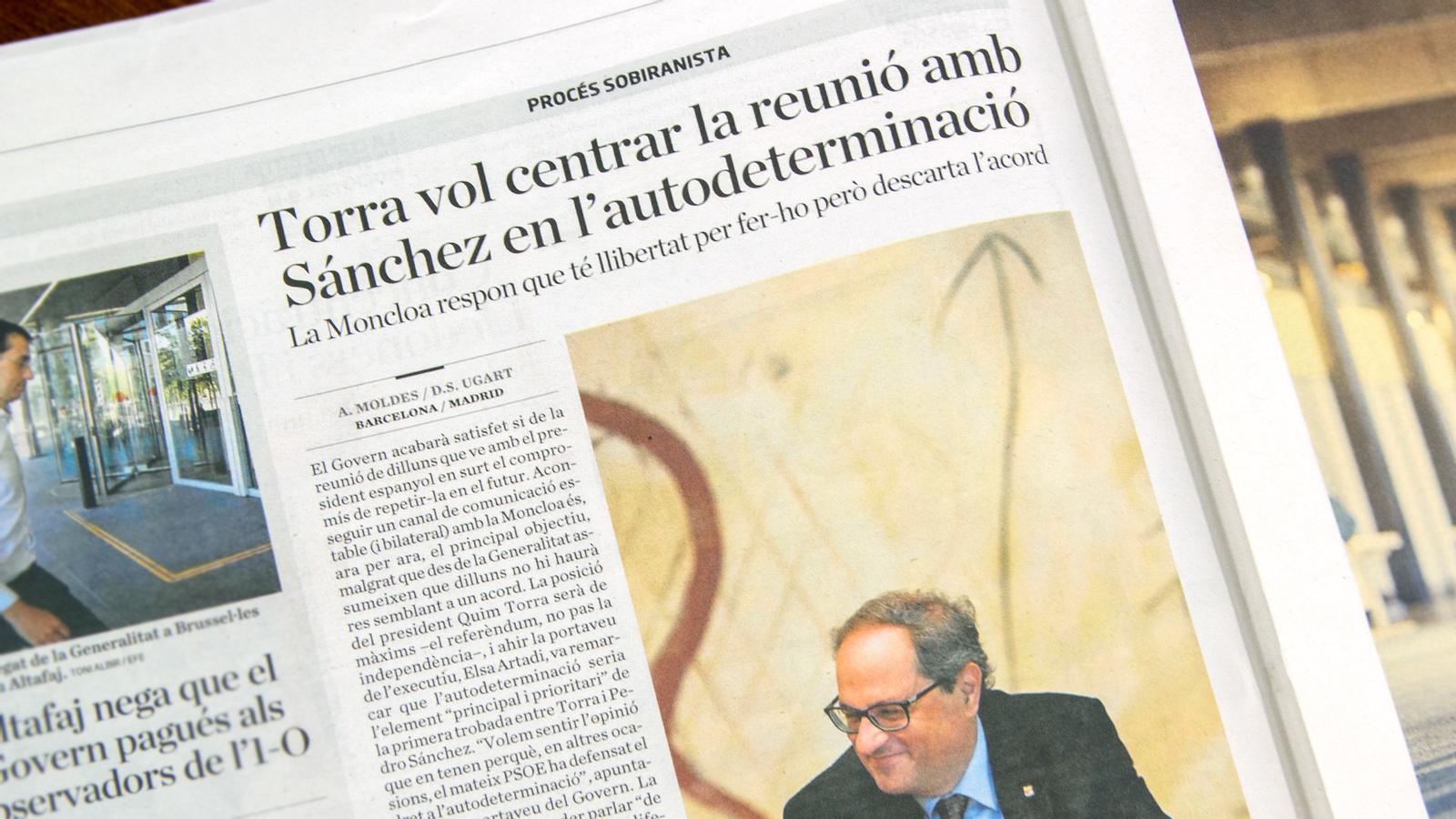 L'anàlisi d'Antoni Bassas: 'Sánchez-Torra: Espanya vigila la reunió, la UE, també'