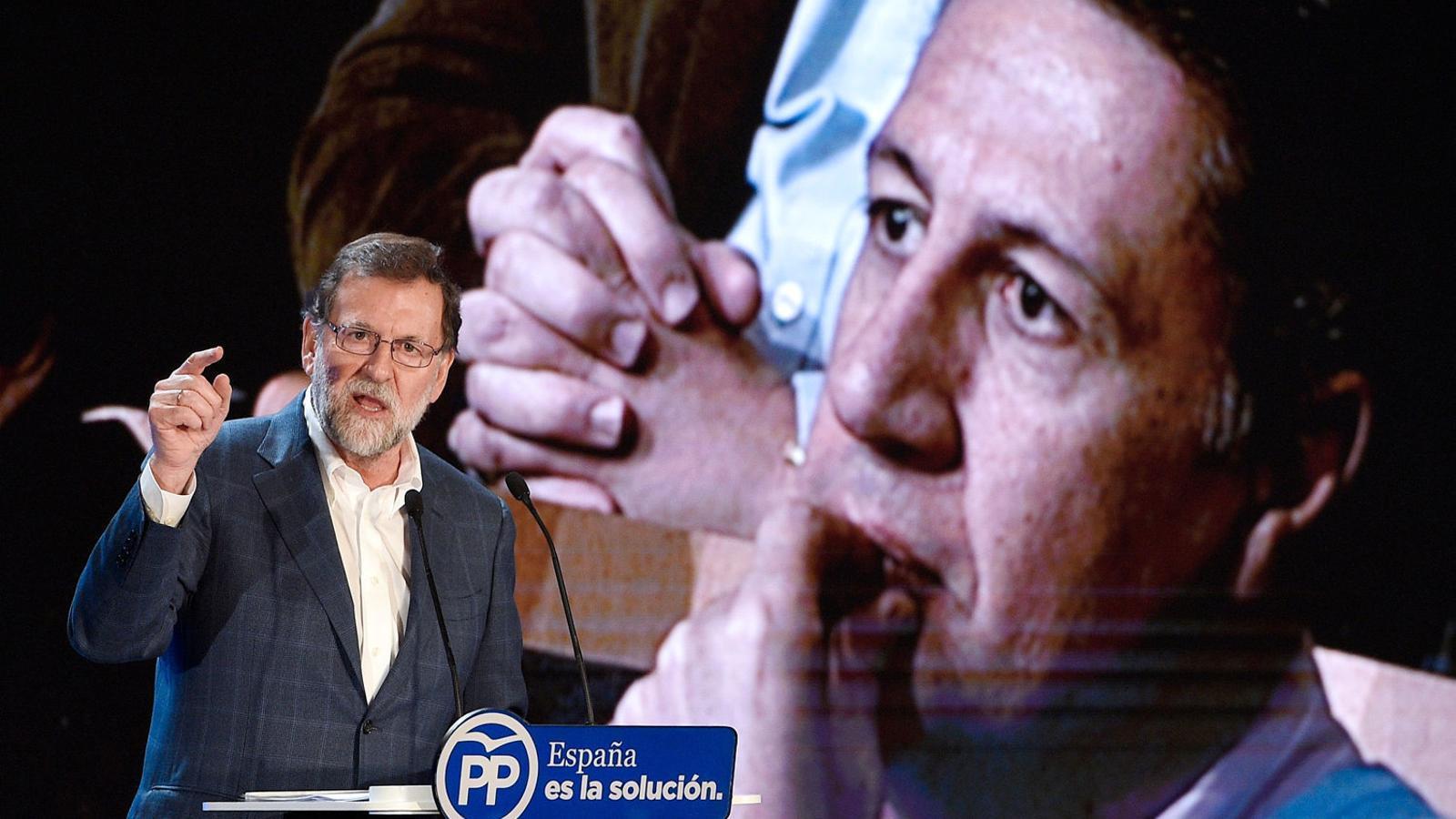 El president del govern espanyol, Mariano Rajoy, va donar suport a Xavier García Albiol ahir a Salou.