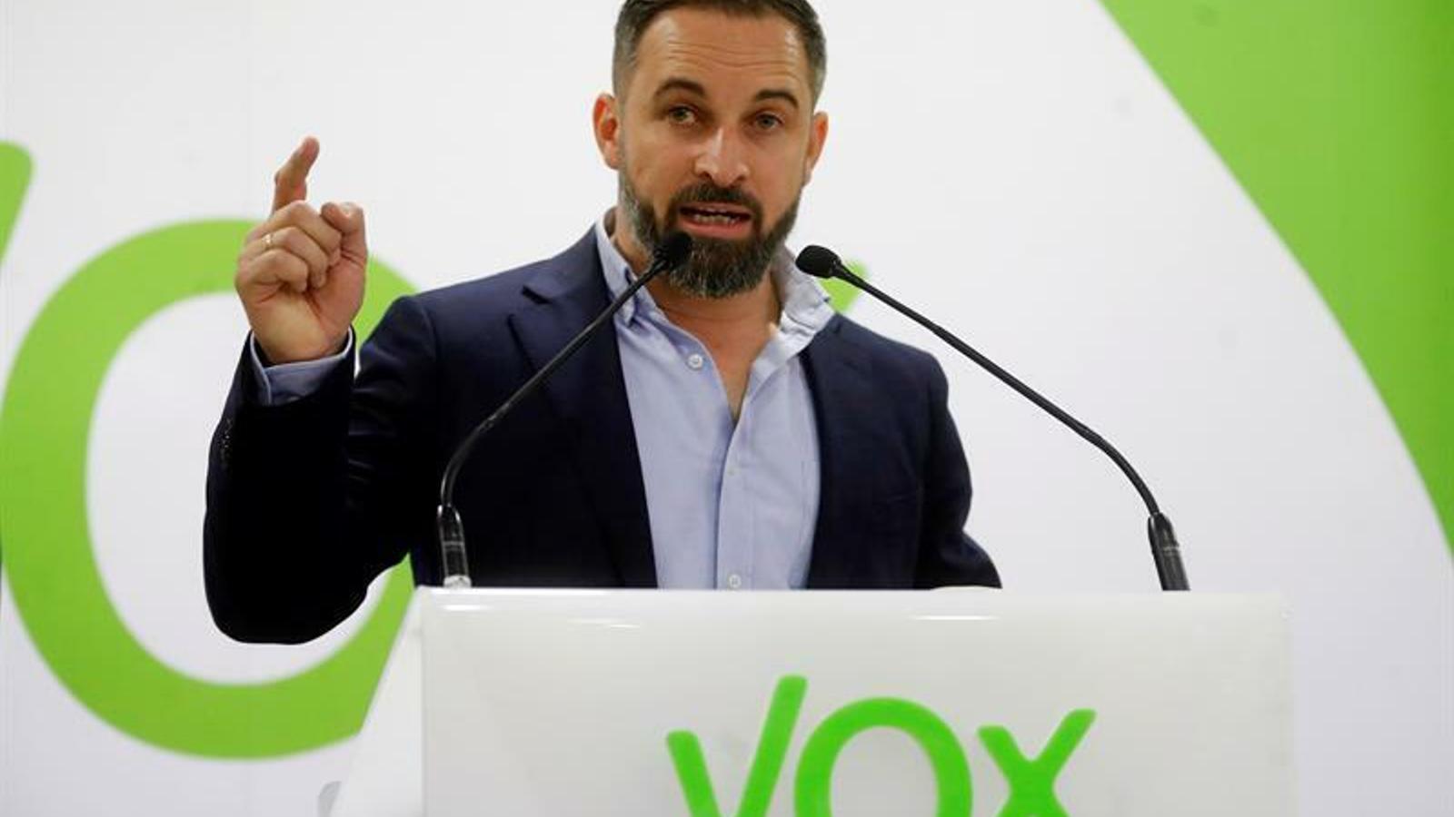 El president de Vox, Santiago Abascal, en una imatge d'arxiu