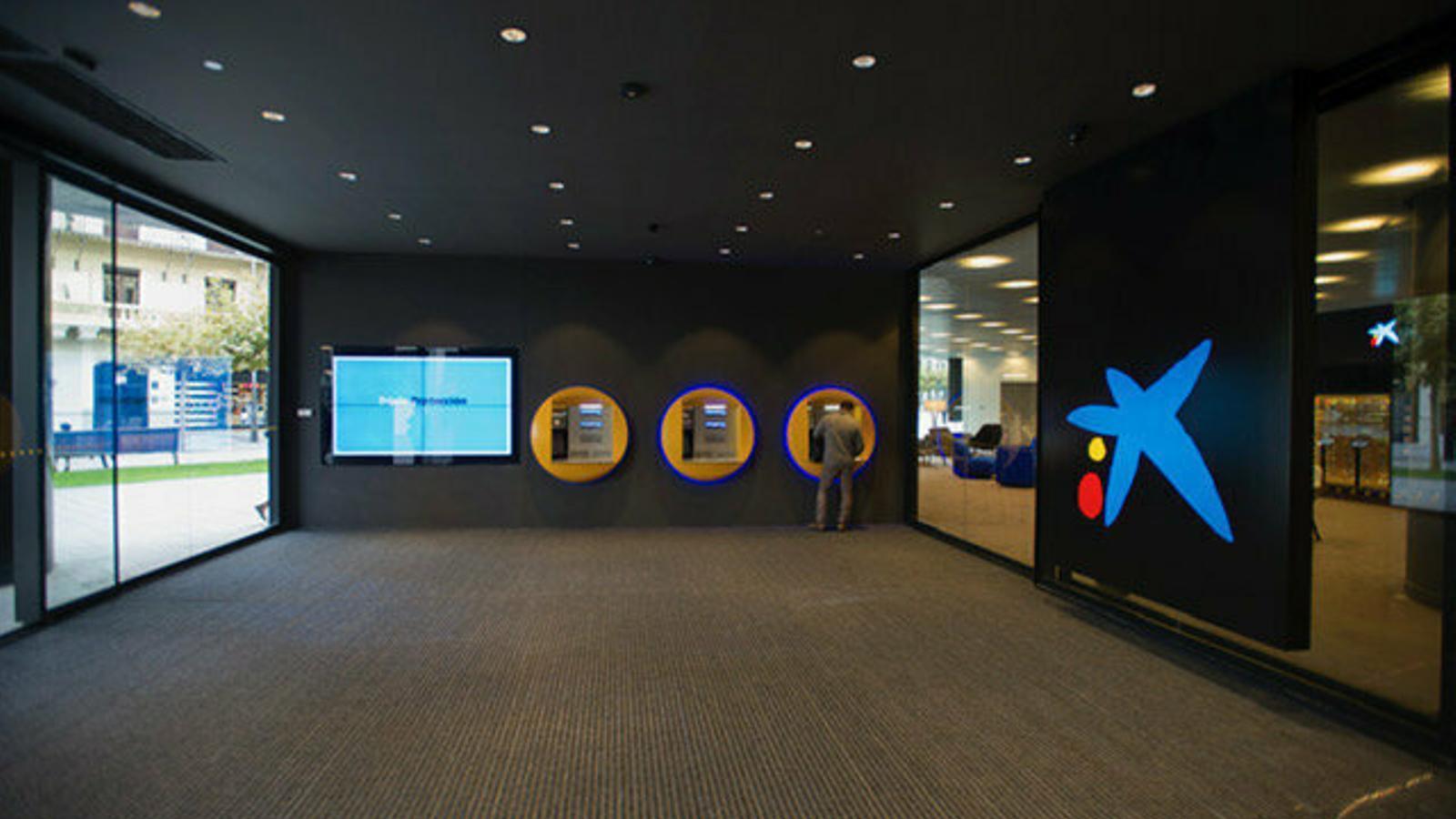 Una oficina de CaixaBank.