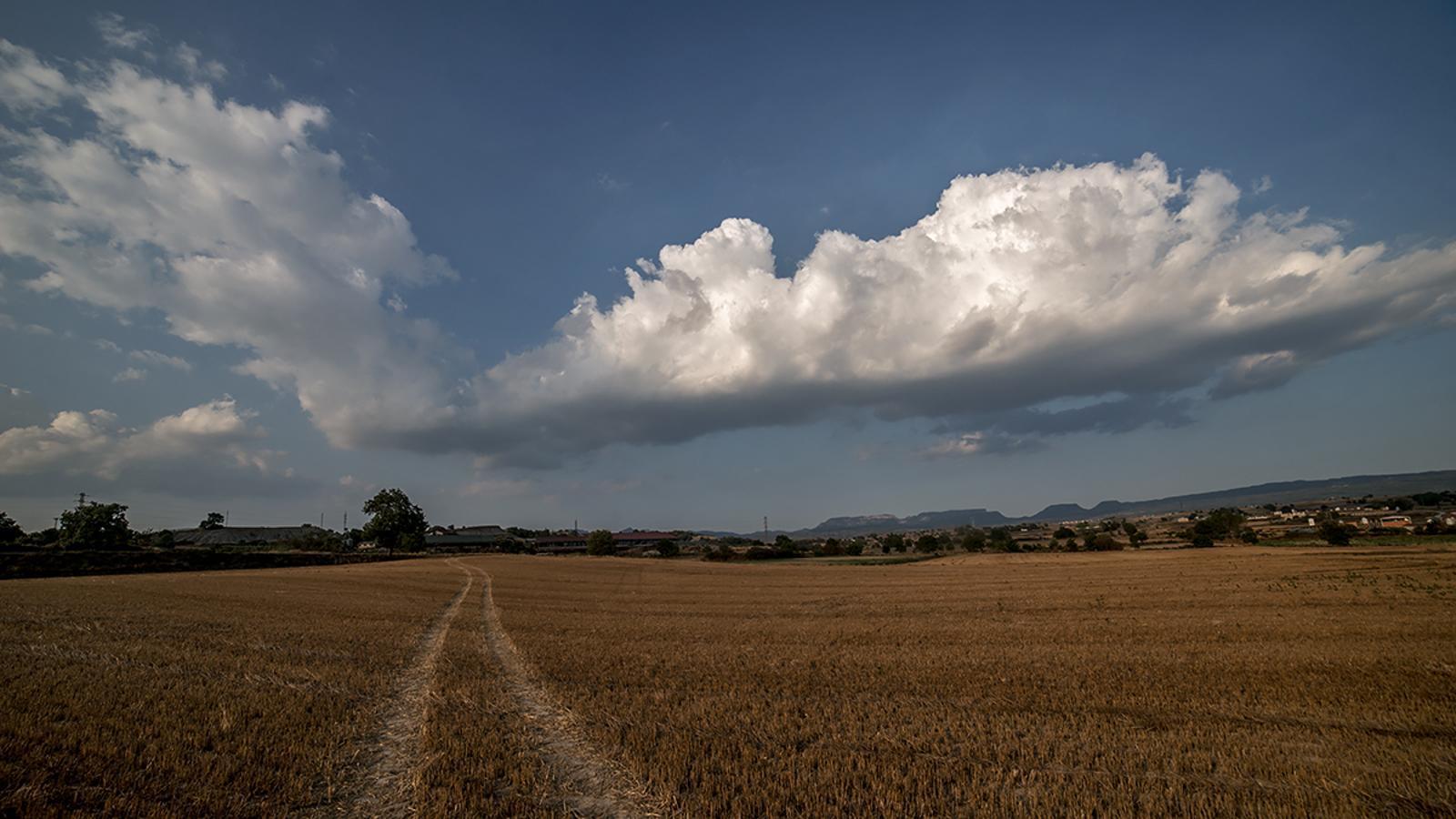 Nuvolades de tarda a Osona, Manlleu, preludi d'inestabilitat / CARME MOLIST
