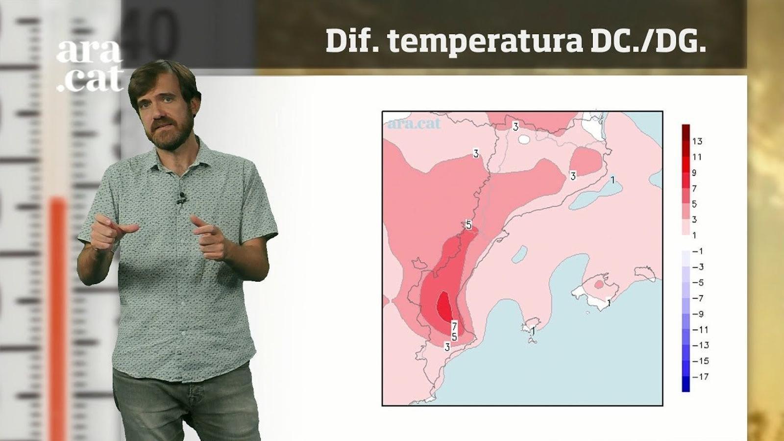 La méteo en 1 minut: calor intensa abans de la primera visita de la tardor