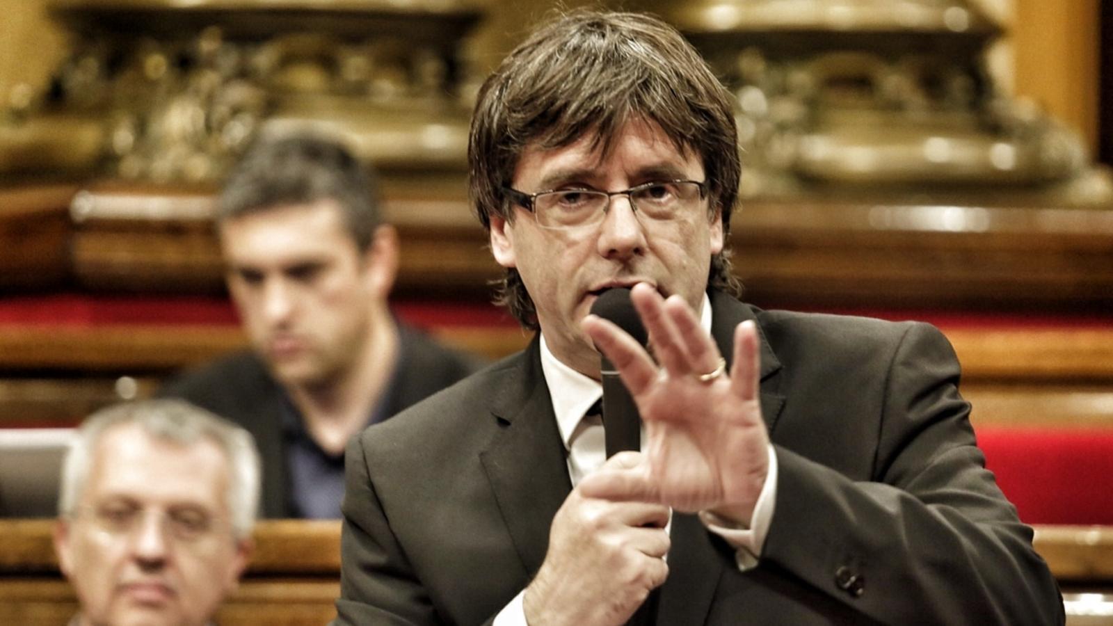 """Puigdemont: """"El temps del pal i la pastanaga s'ha acabat"""""""