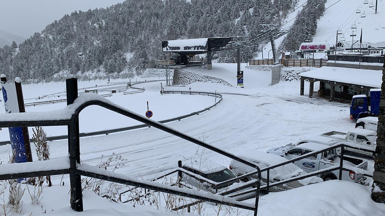La nevada ha deixat un gruix important a Ordino Arcalís. / ORDINO ARCALÍS