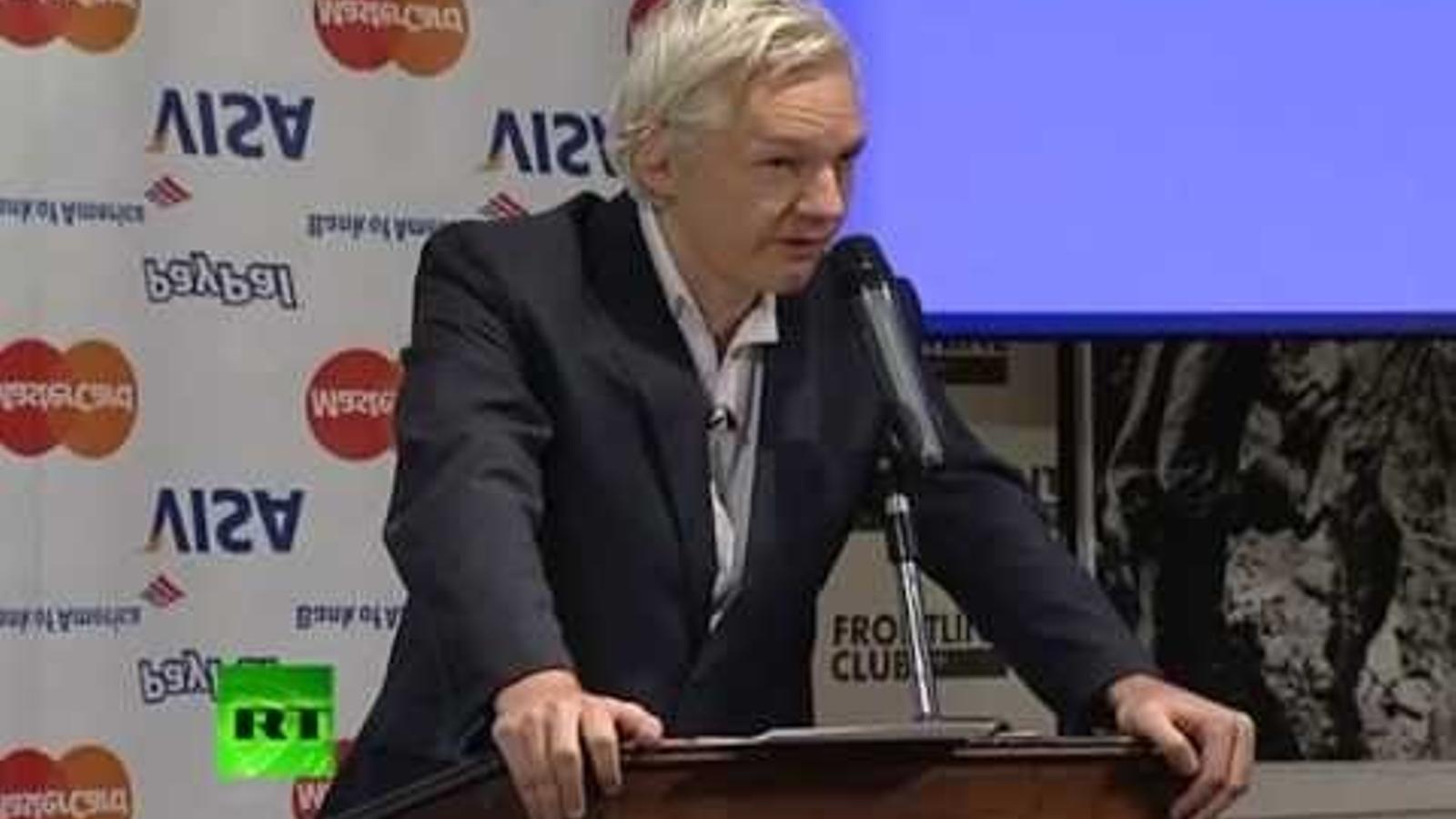 Assange anuncia que busca finançament, el 2011.