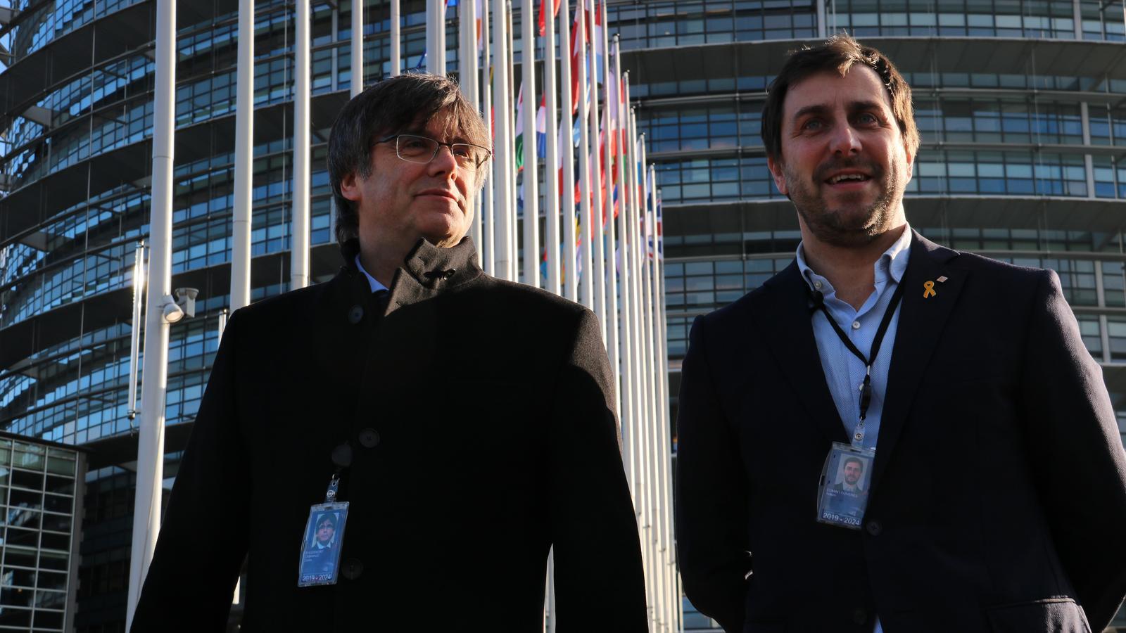 Des de Bèlgica fins a l'Eurocambra en cotxe: l'arribada de Puigdemont a Estrasburg