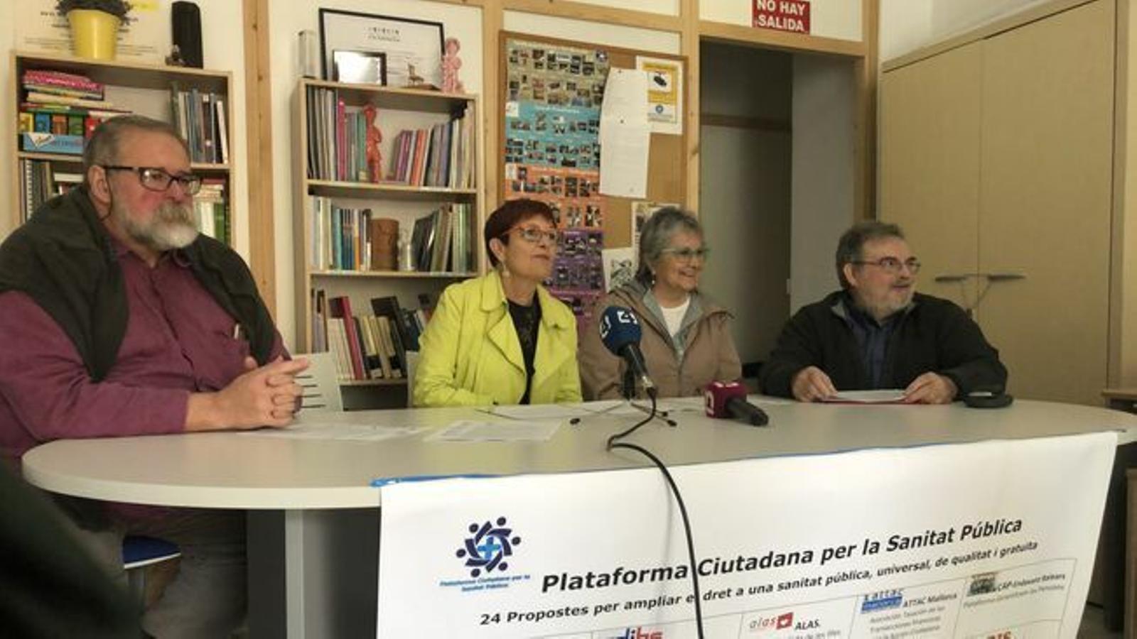 Només els partits d'esquerra assumeixen les propostes de la Plataforma Ciutadana per la Sanitat Pública