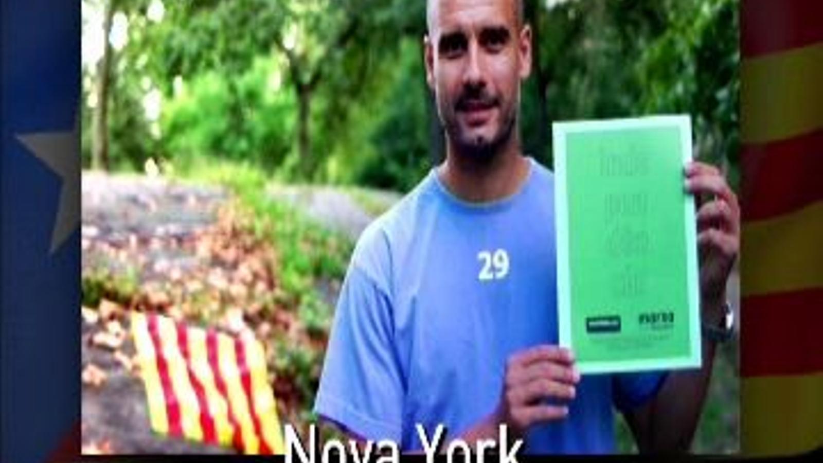 Guardiola, anunciant el seu vot a favor de la independència en la 'consulta' simbòlica de la Diada