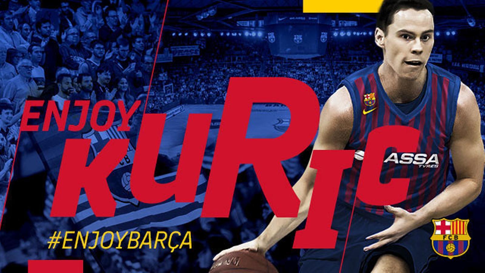 Kyle Kuric, nou jugador del Barça Lassa de Bàsquet