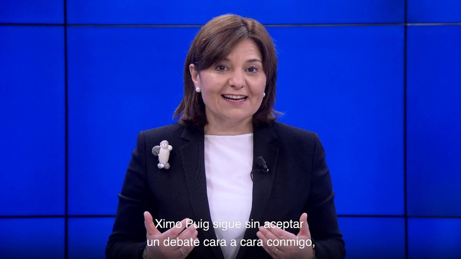Petició Isabel Bonig per a la celebració d'un cara a cara amb Ximo Puig