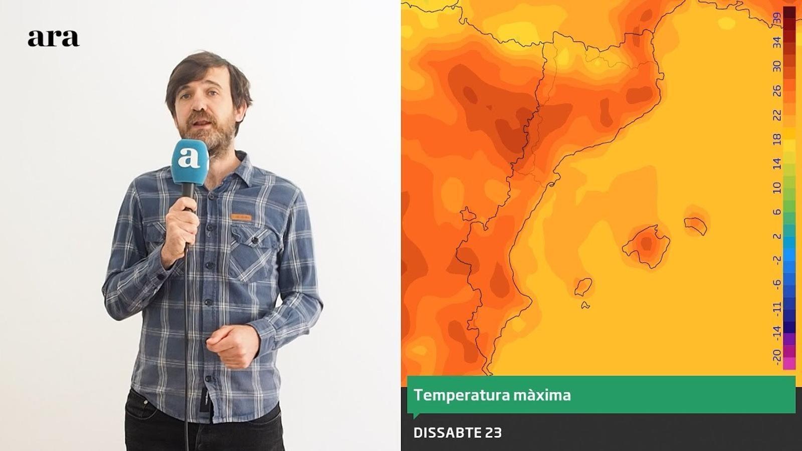 La méteo: la calor tocarà sostre a l'inici del cap de setmana