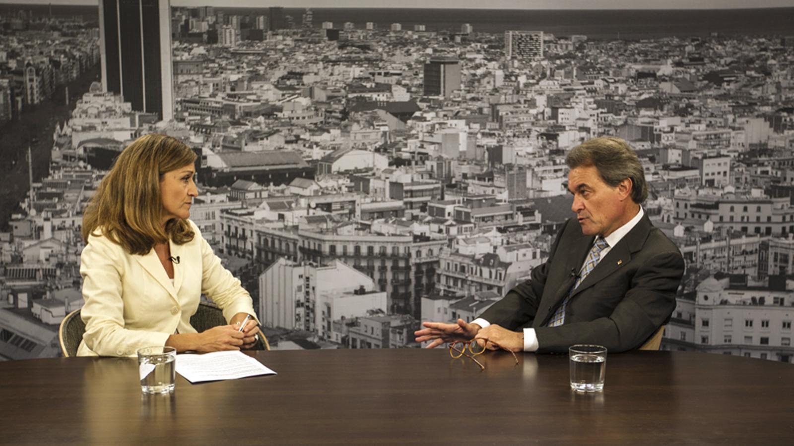 Entrevista d'Esther Vera a Artur Mas