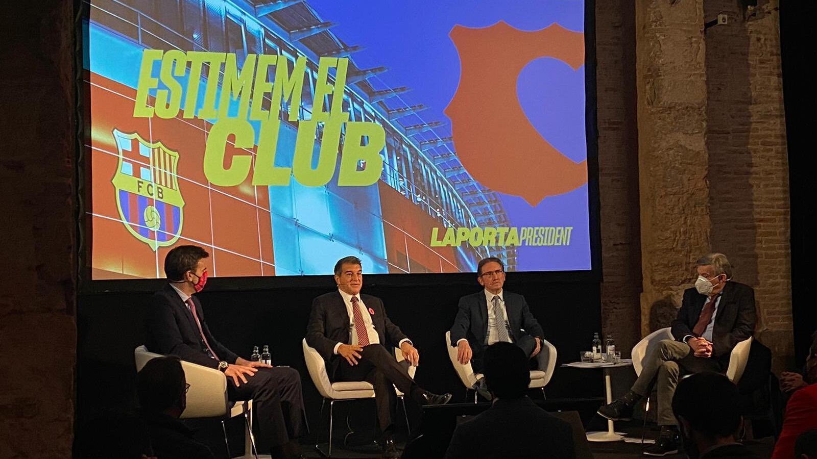 L'acte de presentació de programa econòmic de Laporta.