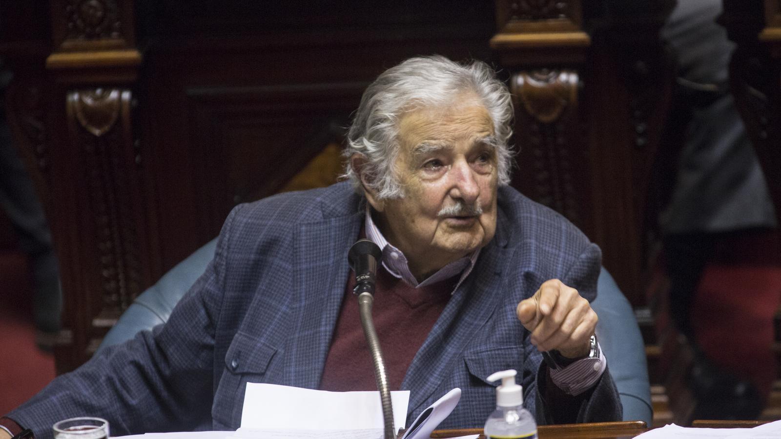 José Mujica, aquest dimarts, en el seu últim dia com a senador