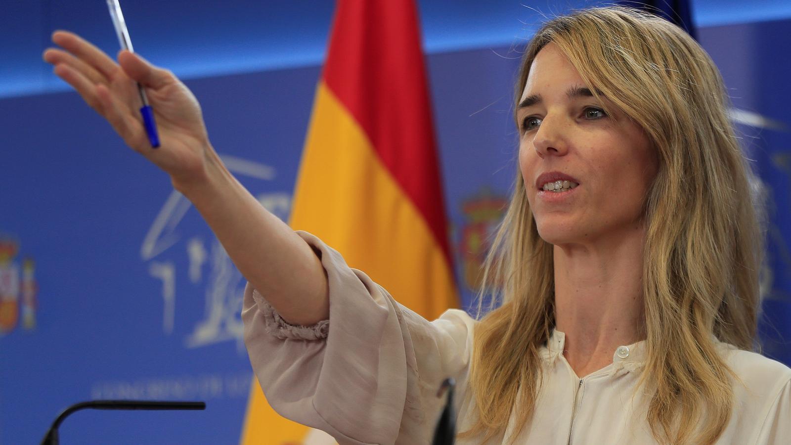La portaveu del PP al Congrés, Cayetana Álvarez de Toledo, en roda de premsa a la cambra baixa.