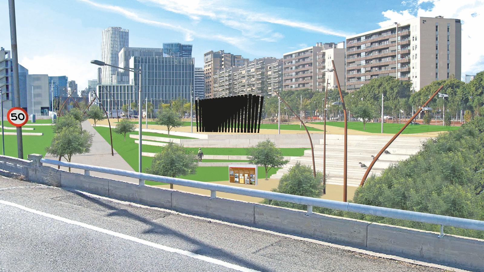 Imatge virtual del monument des de la Ronda Litoral