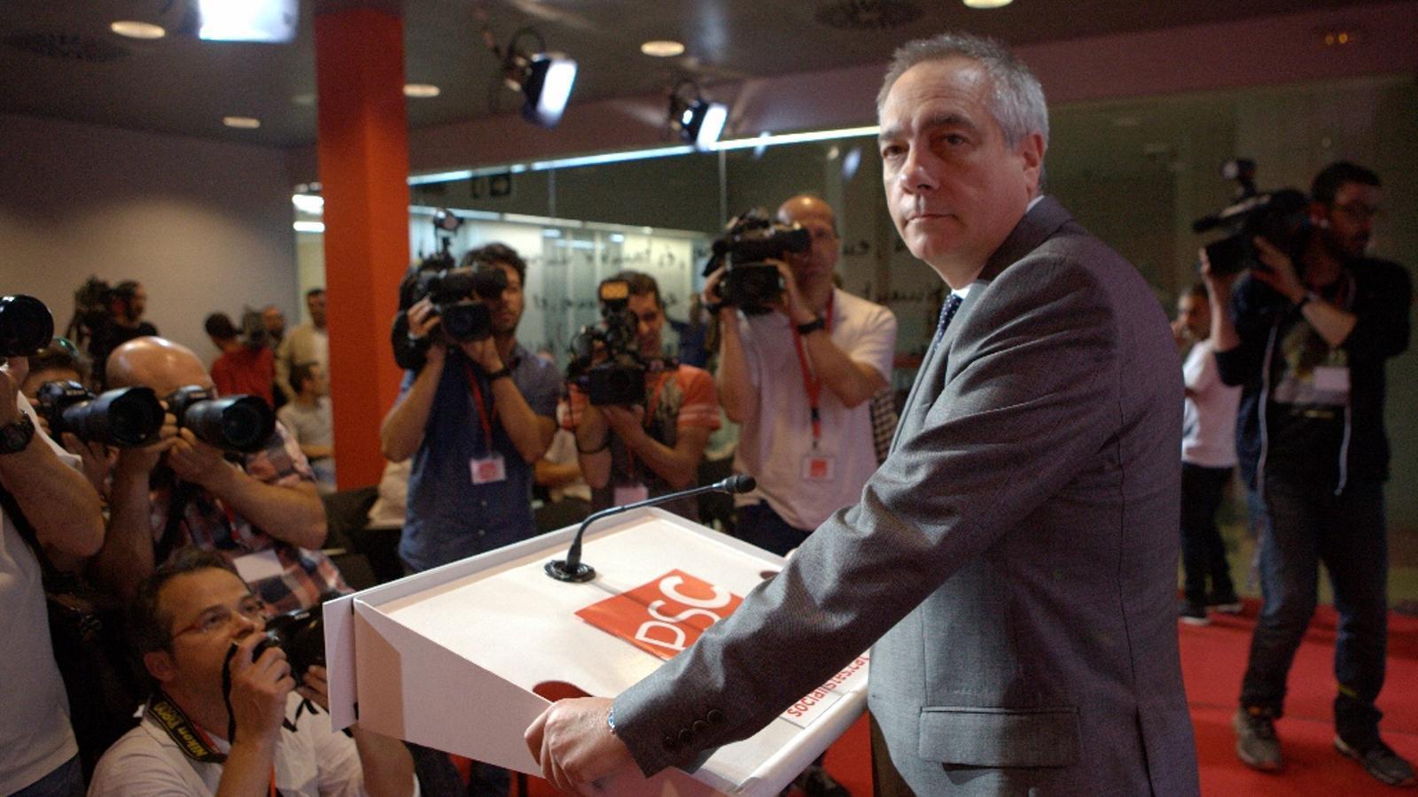 Pere Navarro, durant la roda de premsa d'aquest dimecres / CÈLIA ATSET