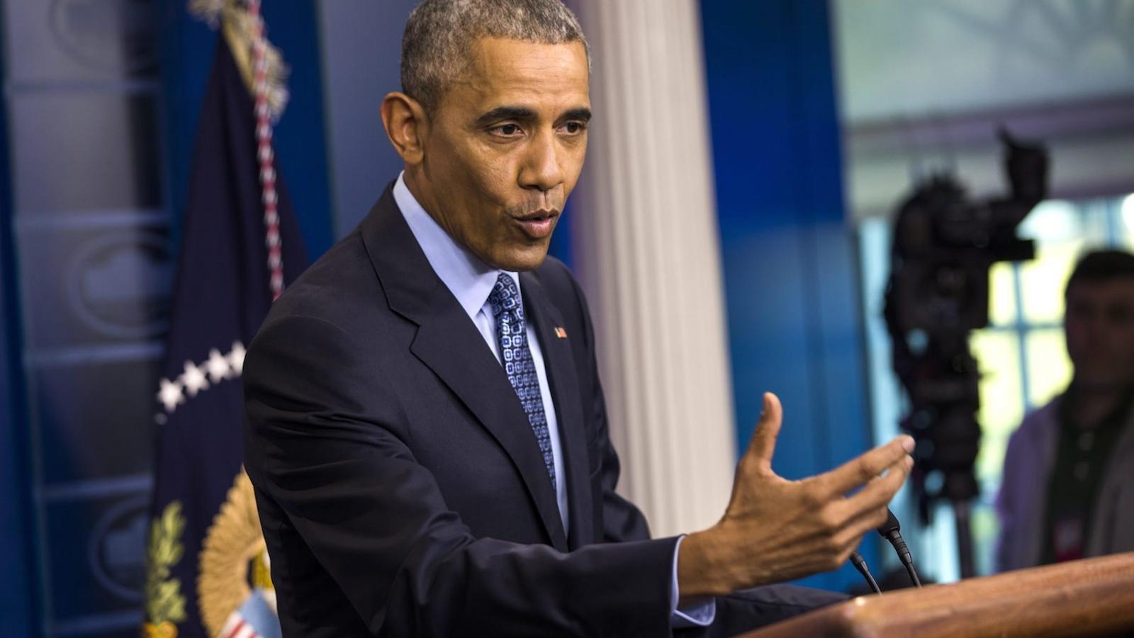El president Obama, durant la seva última roda de premsa