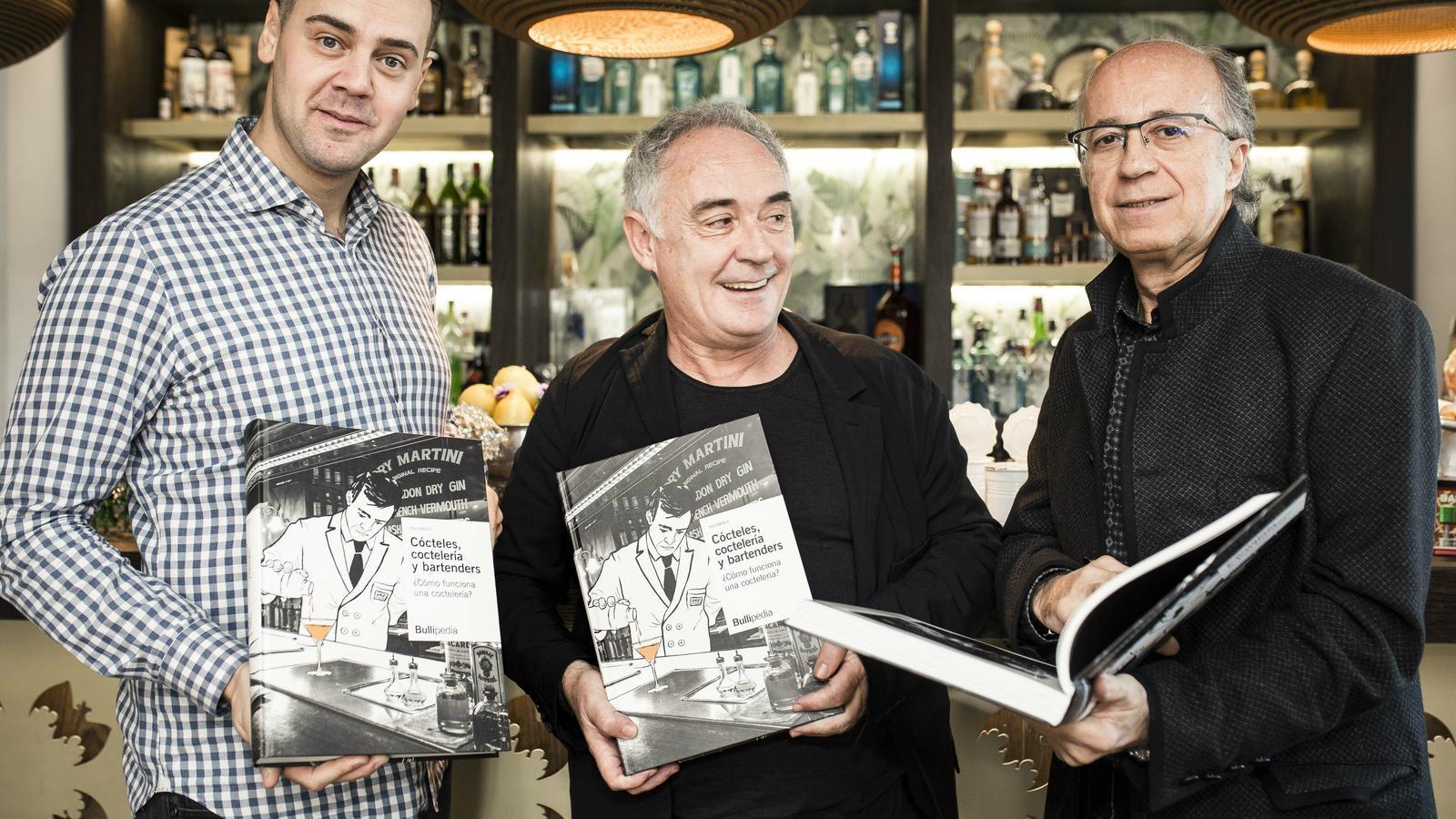 Simone Caporale, Ferran Adrià i Javier de las Muelas durant la presentació
