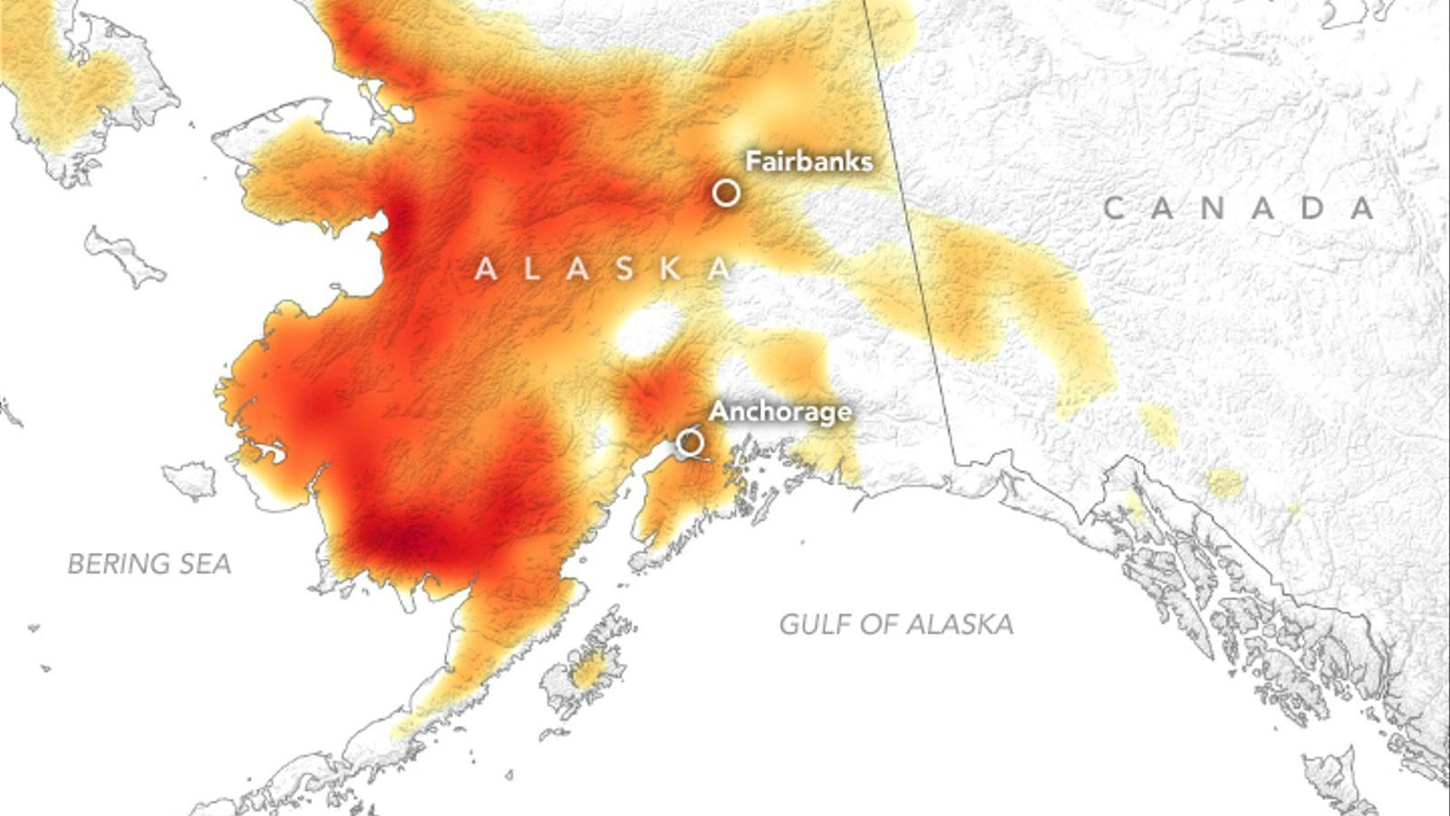 Onada de calor històrica a Alaska
