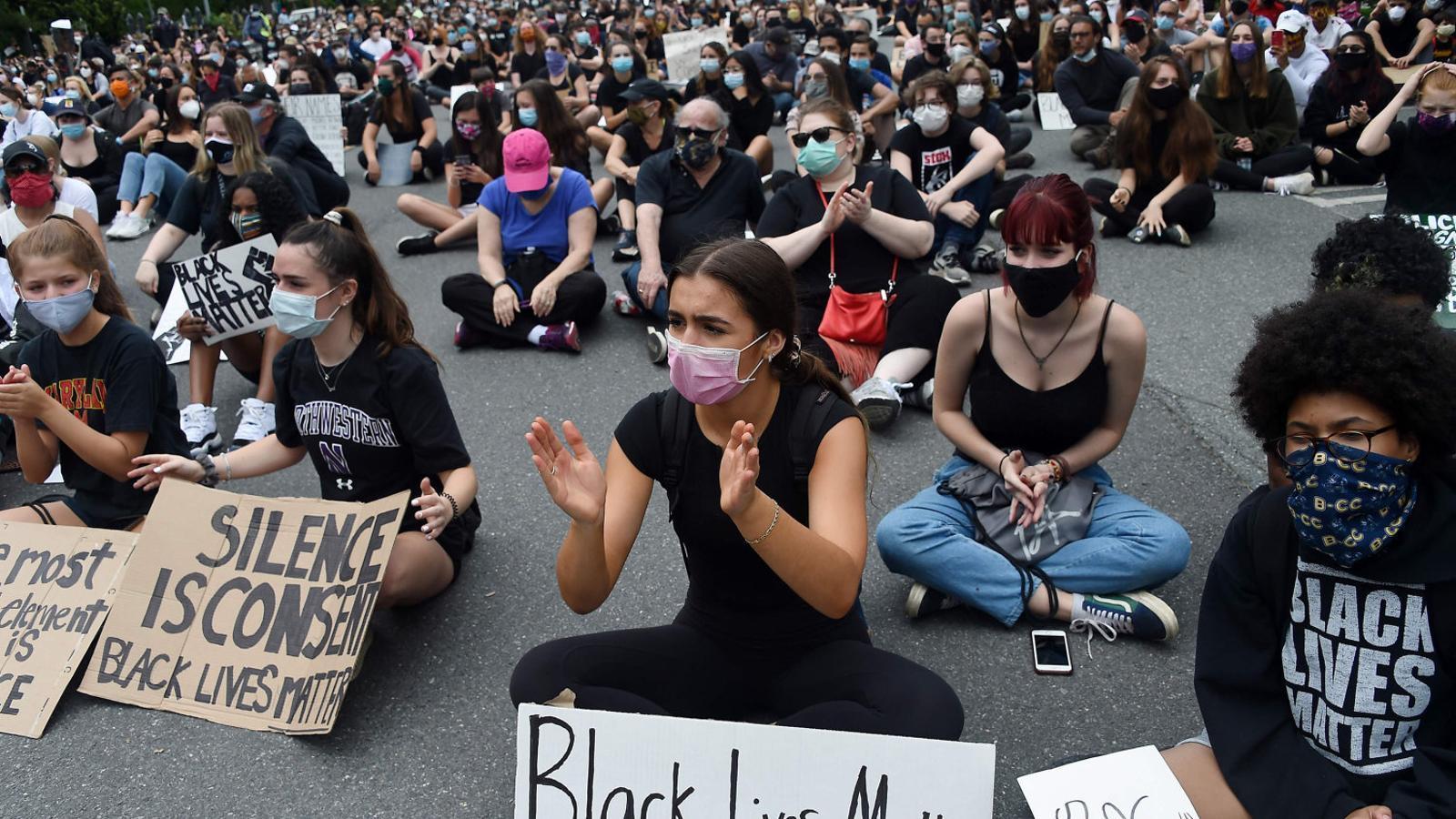 Protestes com aquesta de Maryland s'han mostrat pacífiques i diverses.