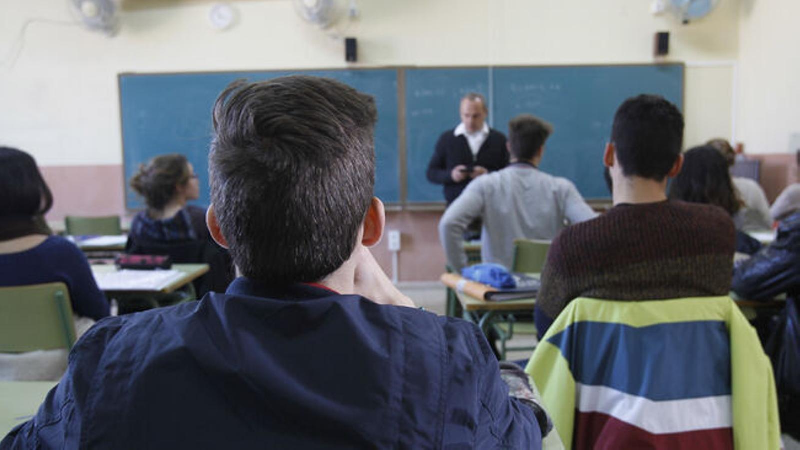 Una aula d'un centre educatiu de les Balears.
