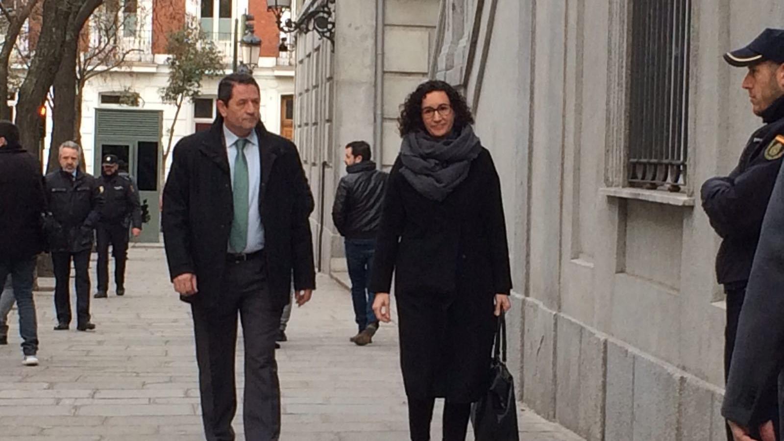 Marta Rovira arriba a declarar al TS