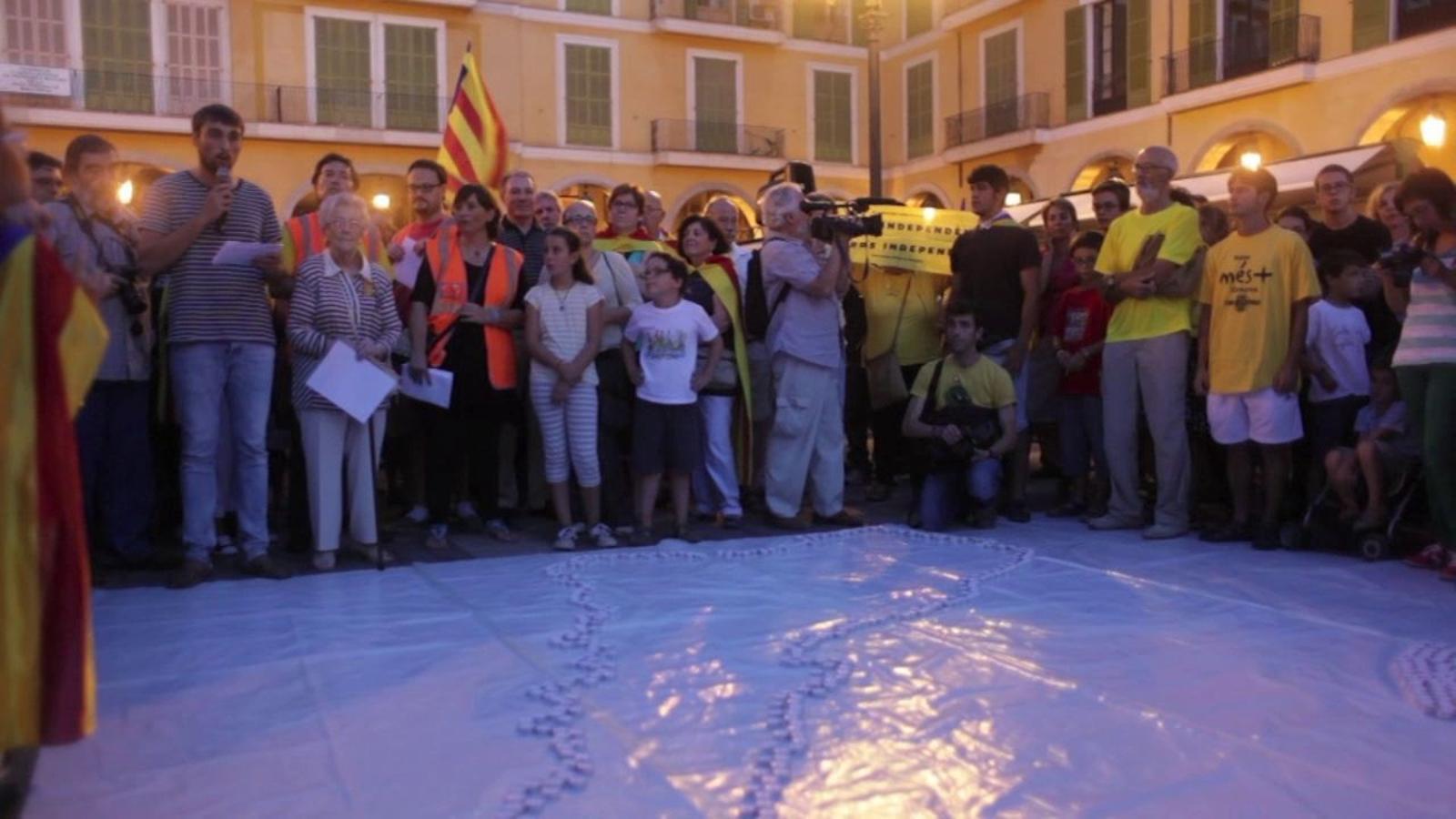 La Via Catalana a Mallorca, en un minut