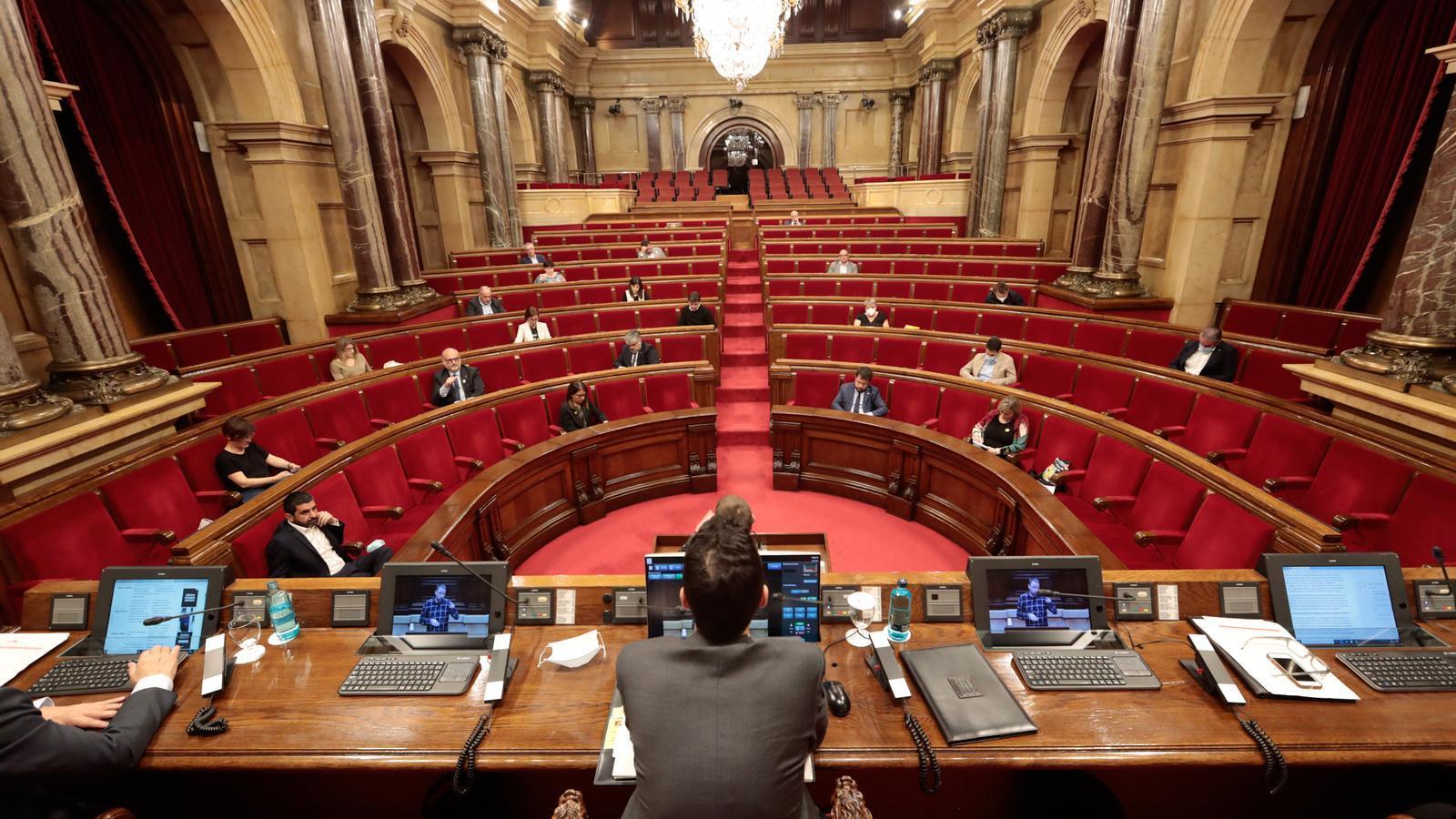 El ple del Parlament la setmana passada