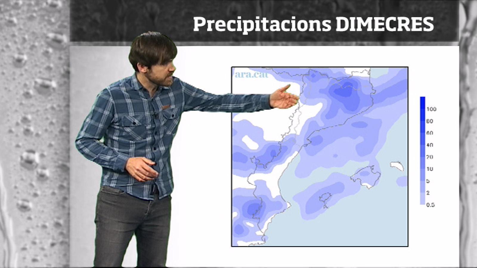 Méteo especial: de 5 a 10 graus menys i neu per sota dels 1000 metres