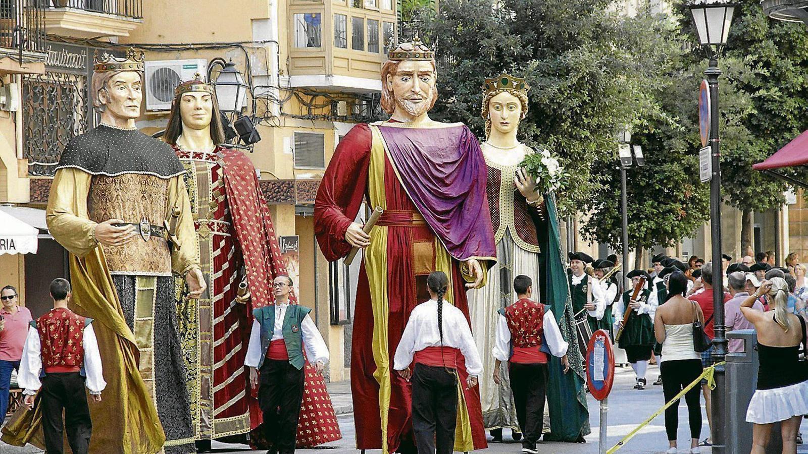 Els gegants són un habitual de la Diada de Mallorca