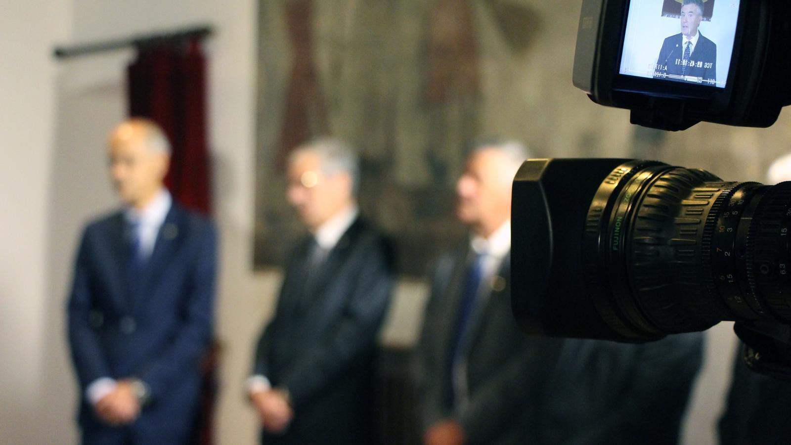 Un moment del tradicional discurs de Meritxell del síndic general, Vicenç Mateu. / C.G. (ANA)