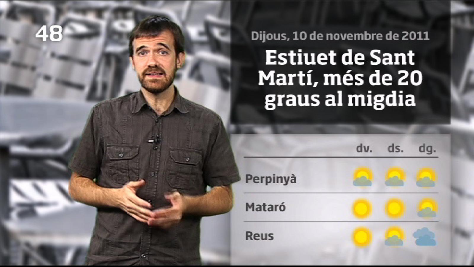 La méteo en 1 minut: estiuet de Sant Martí per començar el cap de setmana (11/11/2011)
