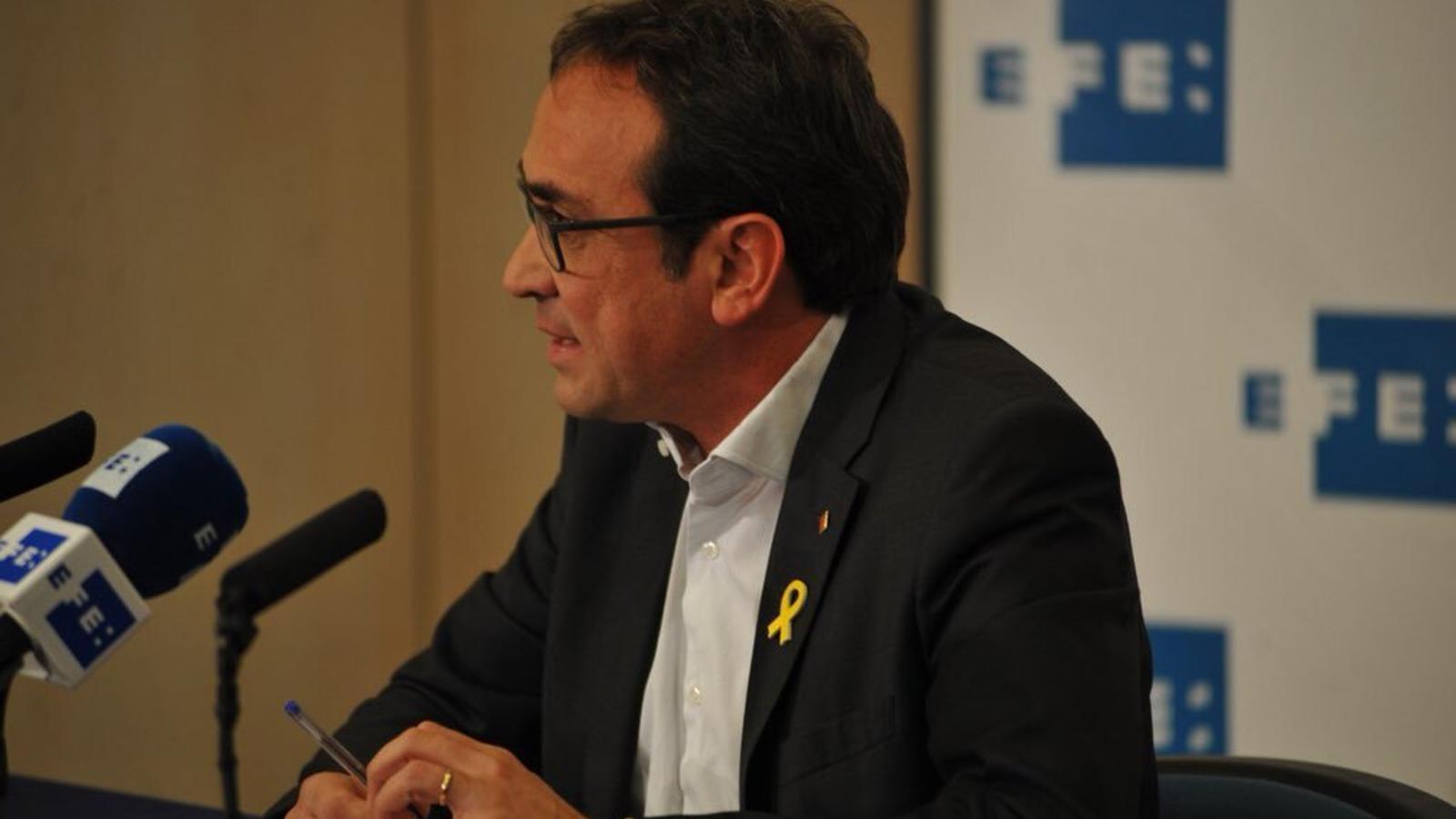 """Rull: """"No ens plantegem cap altre escenari que no sigui la investidura de Carles Puigdemont"""""""