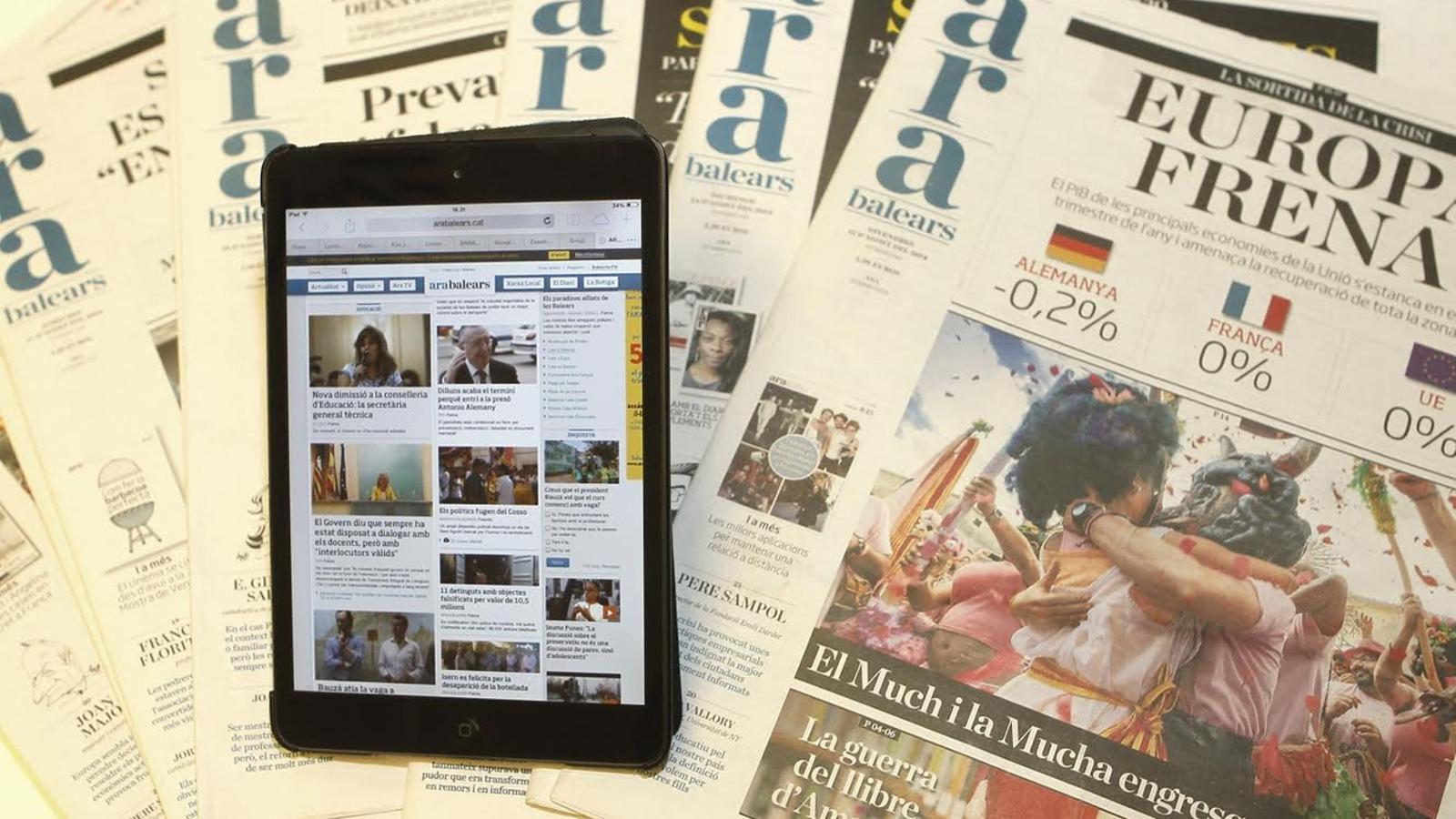 Els caps de setmana s'edita el diari en paper.
