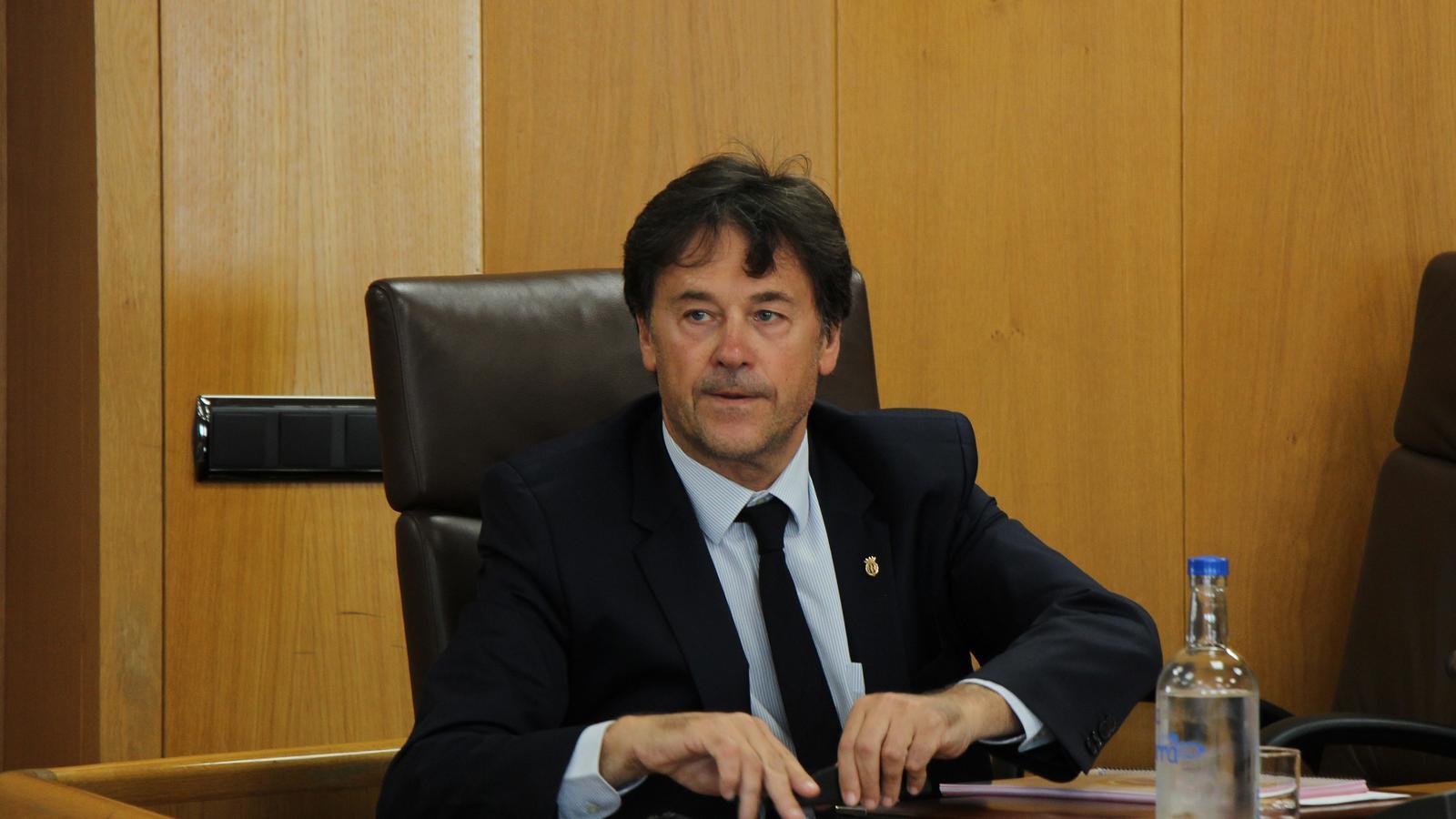 El conseller de Cd'I + Independents Víctor Pintos. / M. F. (ANA)