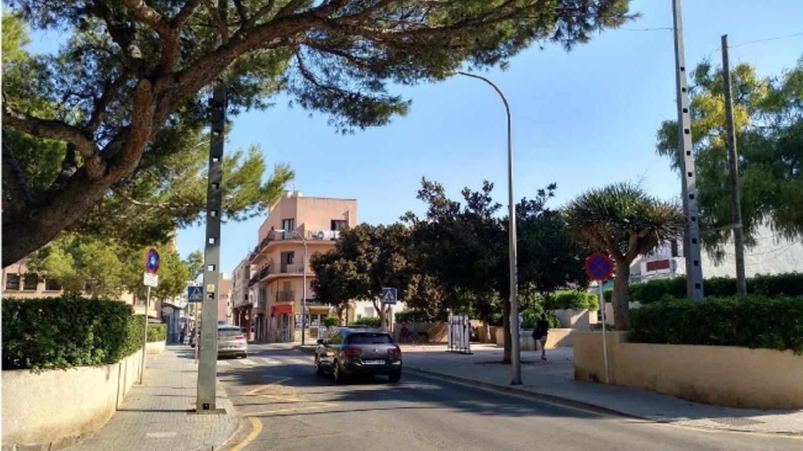Imatge de la plaça dels Nins de l'Arenal
