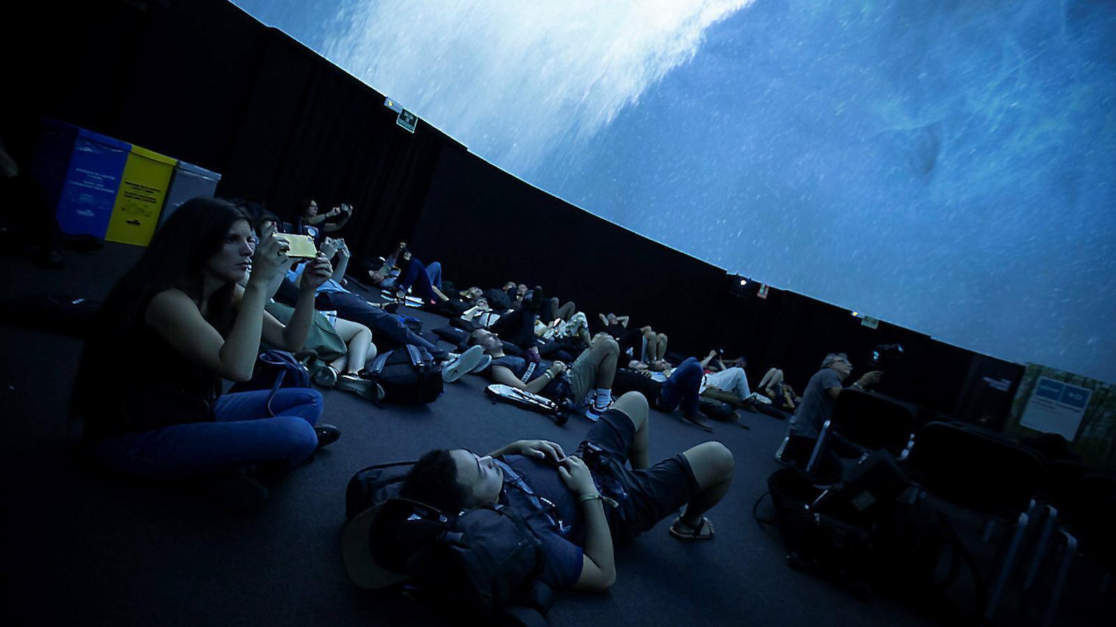 La cúpula de l'audiovisual immersiu de Mediapro al Sónar.