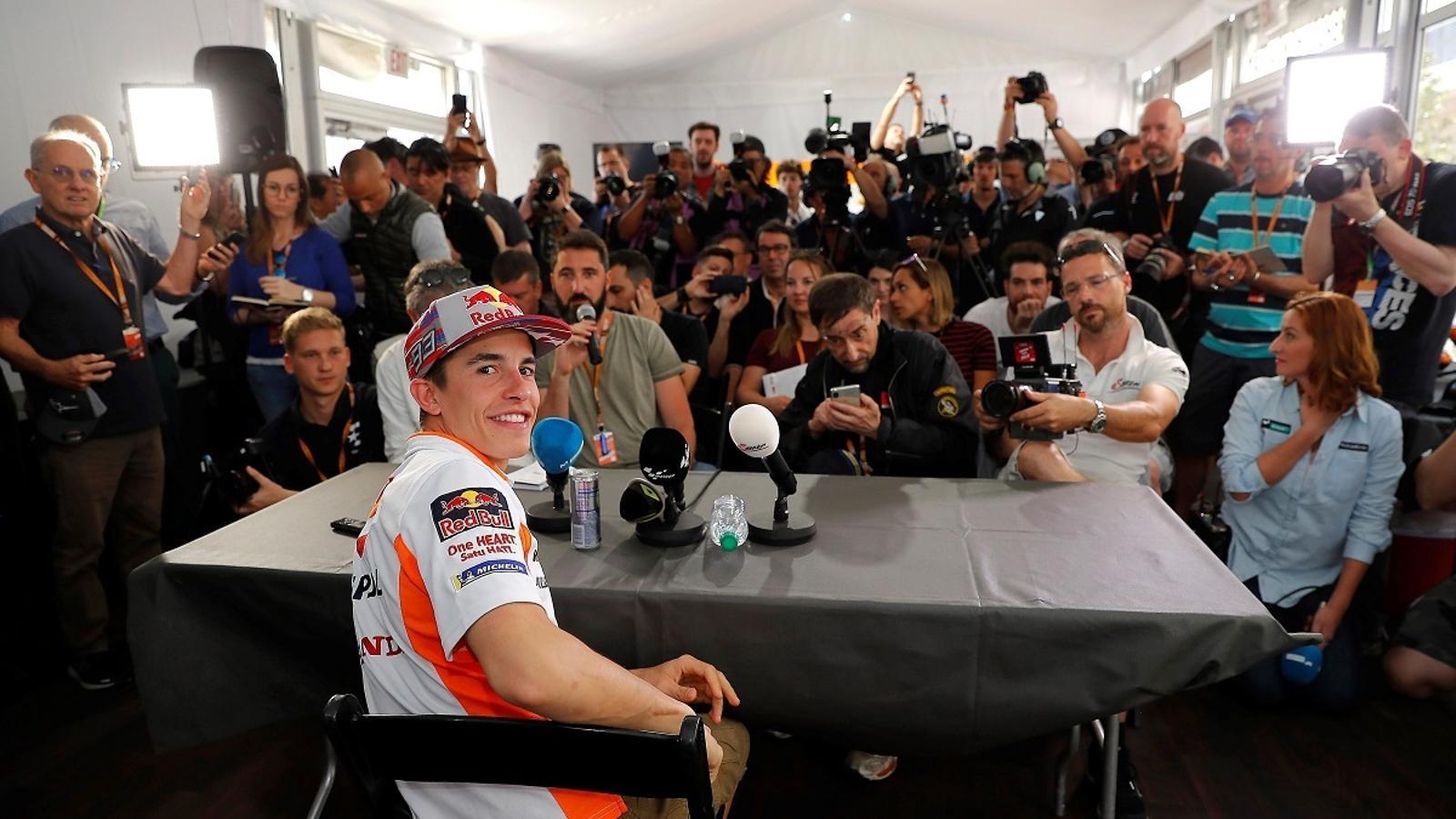 Marc Márquez, a la conferència de premsa prèvia al GP d'Austin