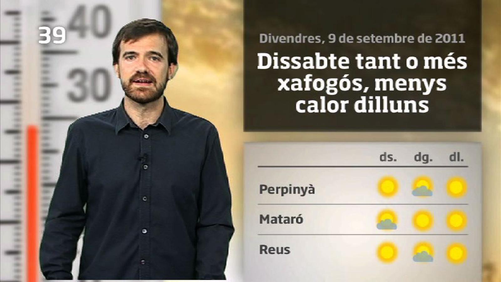 La méteo en 1 minut: Diada calorosa i més variable (10/09/2011)
