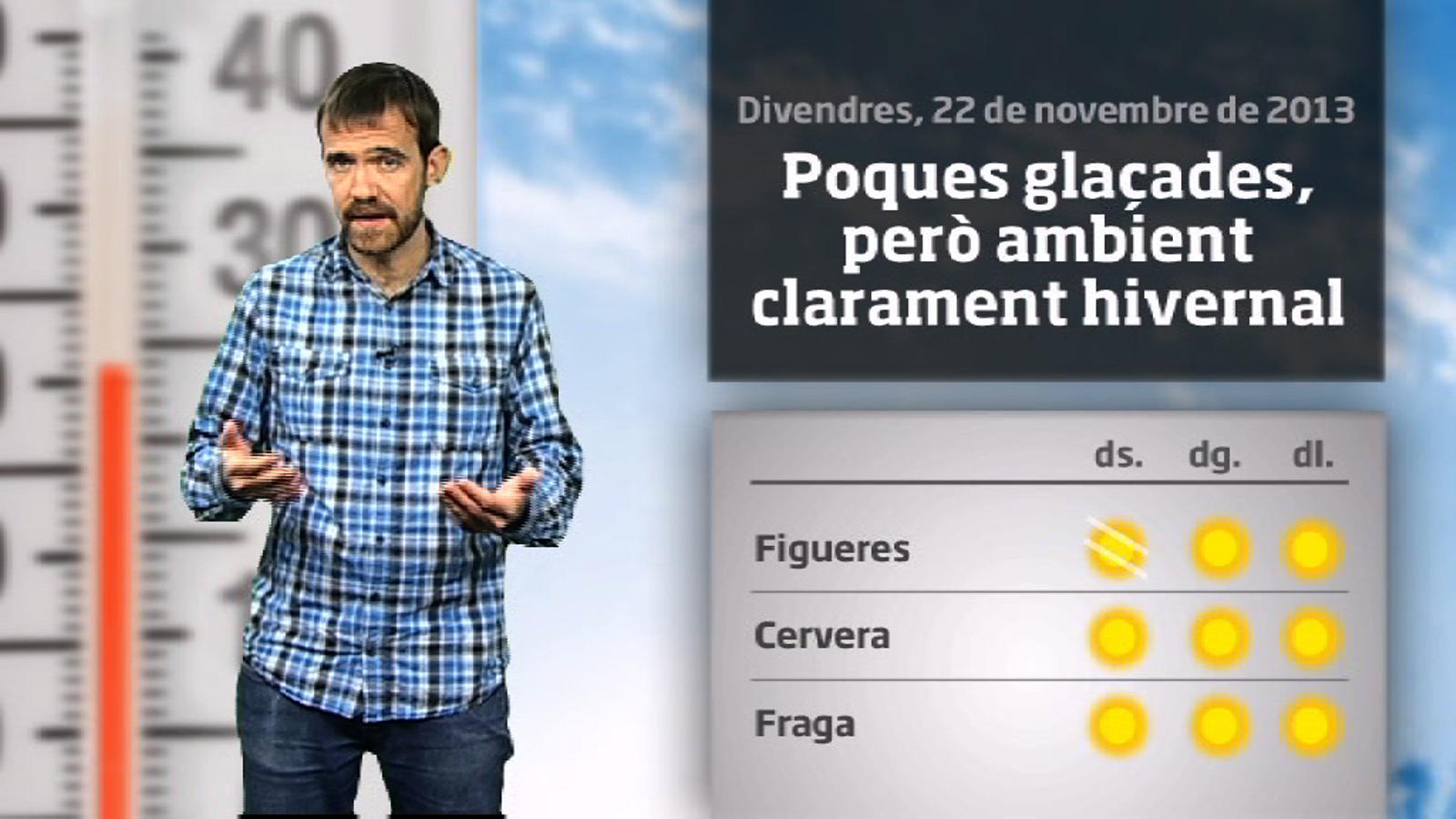 La méteo en 1 minut: cap de setmana d'hivern amb ventades al nord (23/11/2013)