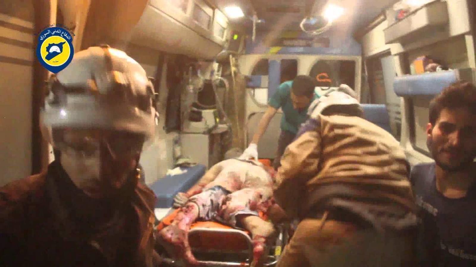 Video de l'atac a un hospital d'Alep. DEFENSA CIVIL SIRIANA