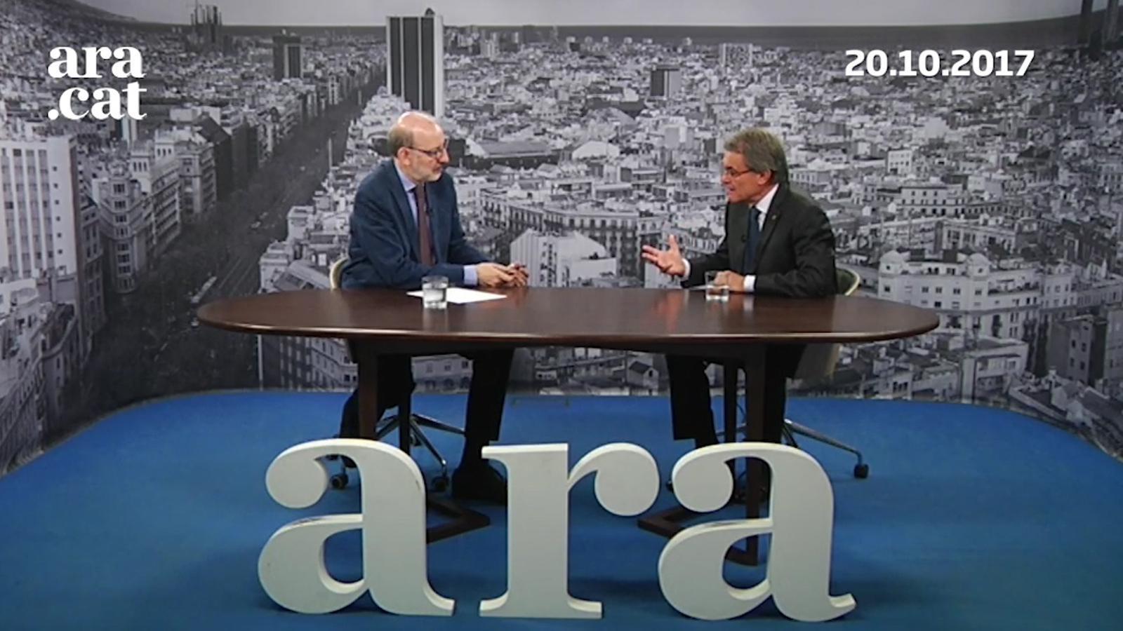 Antoni Bassas entrevista Artur Mas (20-10-2017)