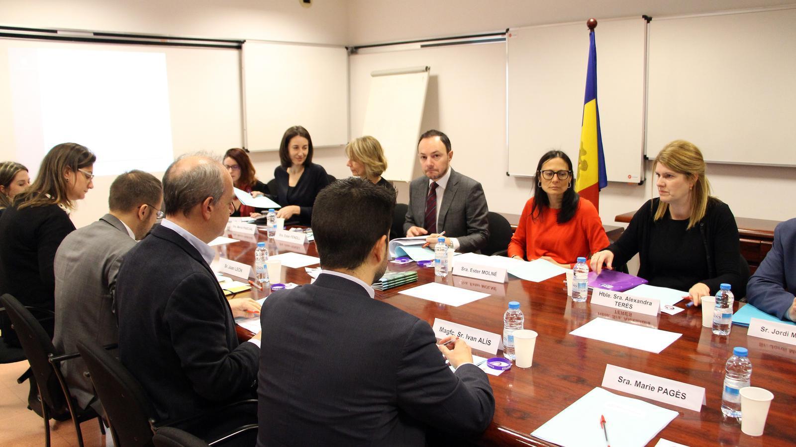 Un moment de la reunió de la Comissió Nacional de Prevenció de la Violència de Gènere. / C. G. (ANA)